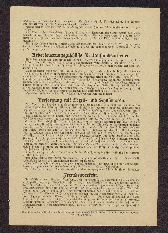 Korrespondenzblatt des Landesausschusses der Arbeiter- und Bauernräte Württembergs, Bild 2