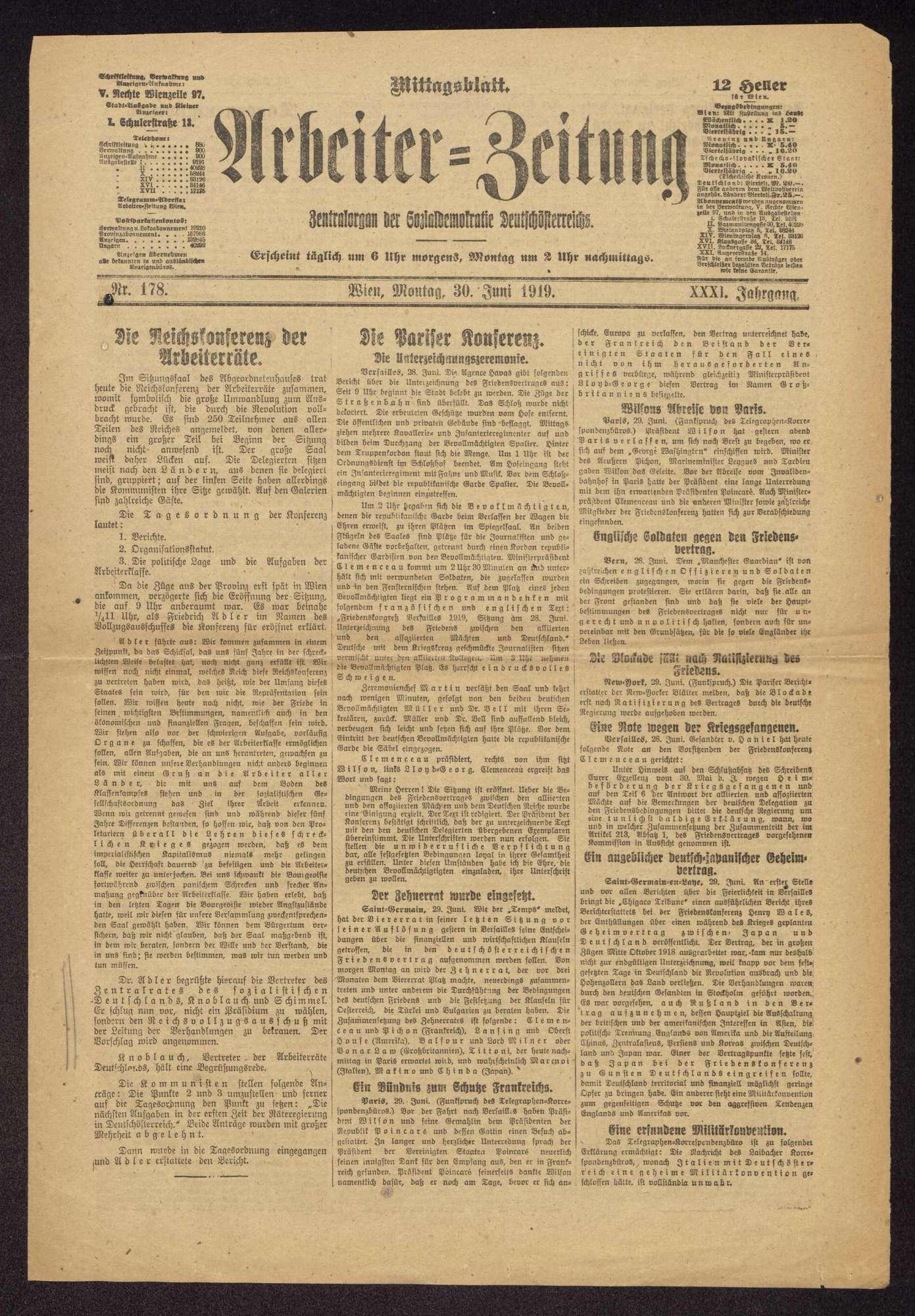 Teilnahme an den Kongressen der Arbeiter-, Bauern- und Soldatenräte v. 16.-20.12.1918 (1. Rätekongress) und v. 8.-14.4.1919 (2. Rätekongress) in Berlin und Tätigkeit als Mitglied des Zentralrats der deutschen Arbeiterräte, Bild 1
