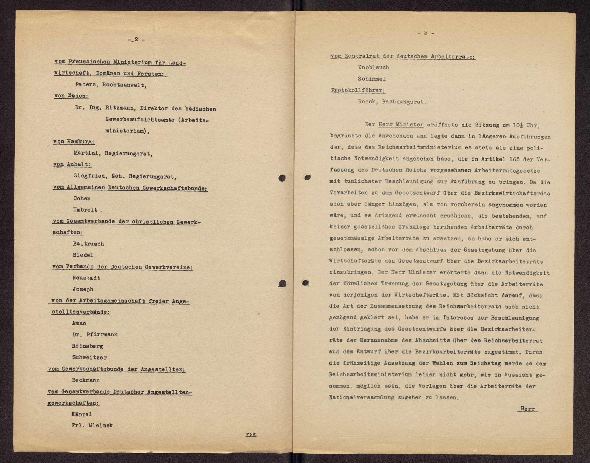 Teilnahme an den Kongressen der Arbeiter-, Bauern- und Soldatenräte v. 16.-20.12.1918 (1. Rätekongress) und v. 8.-14.4.1919 (2. Rätekongress) in Berlin und Tätigkeit als Mitglied des Zentralrats der deutschen Arbeiterräte, Bild 2