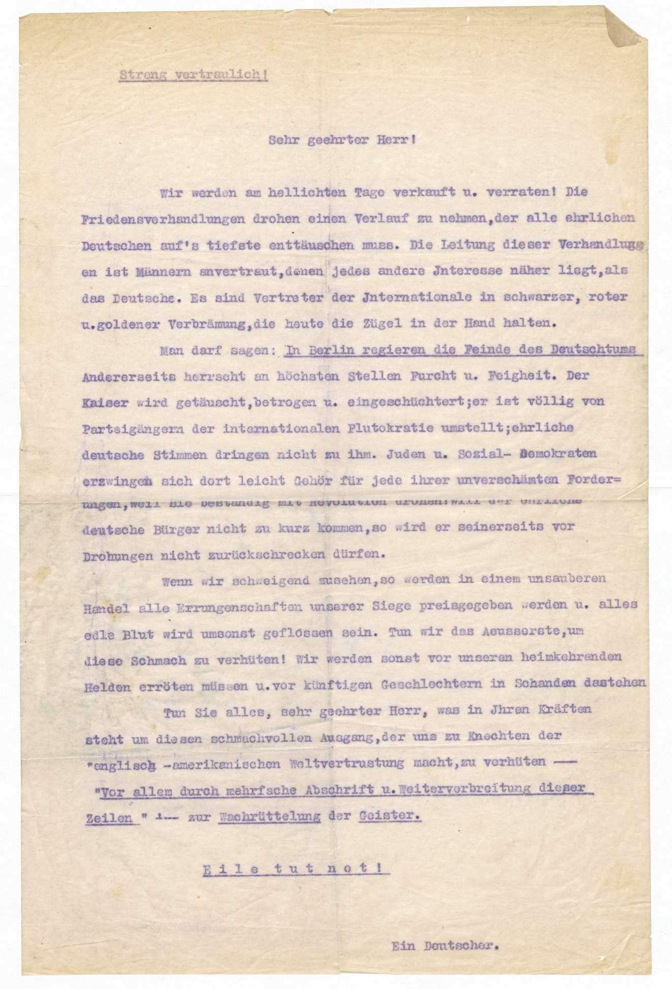 Haltung der Sozialdemokratie bei Kriegsanbruch und während des 1. Weltkriegs, Bild 1