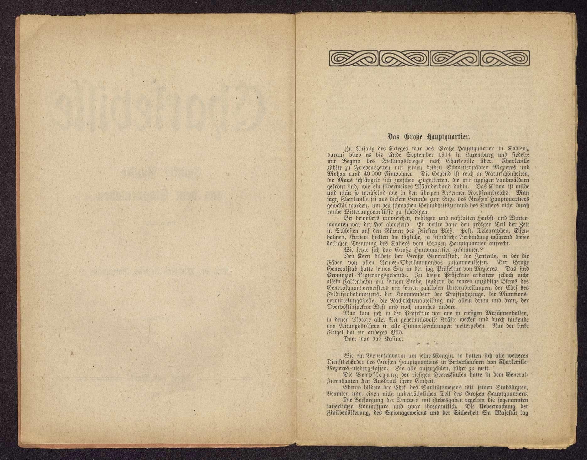 Dr. Wilhelm Appens, Dortmund: Charleville. Dunkle Punkte aus dem Etappenleben (Druck und Verlag: Gerisch & Co. G.m.b.H., Dortmund), Bild 3