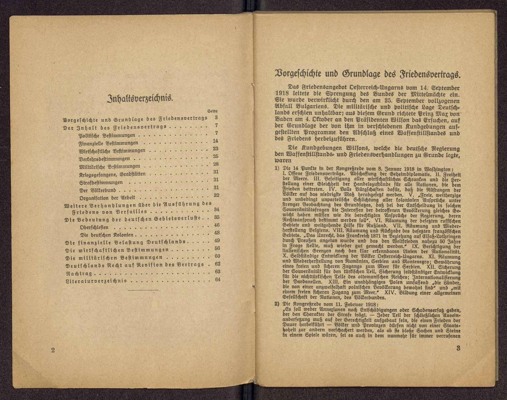 Dr Albert Ströhle Der Vertrag Von Versailles Und Seine Wirkungen Für