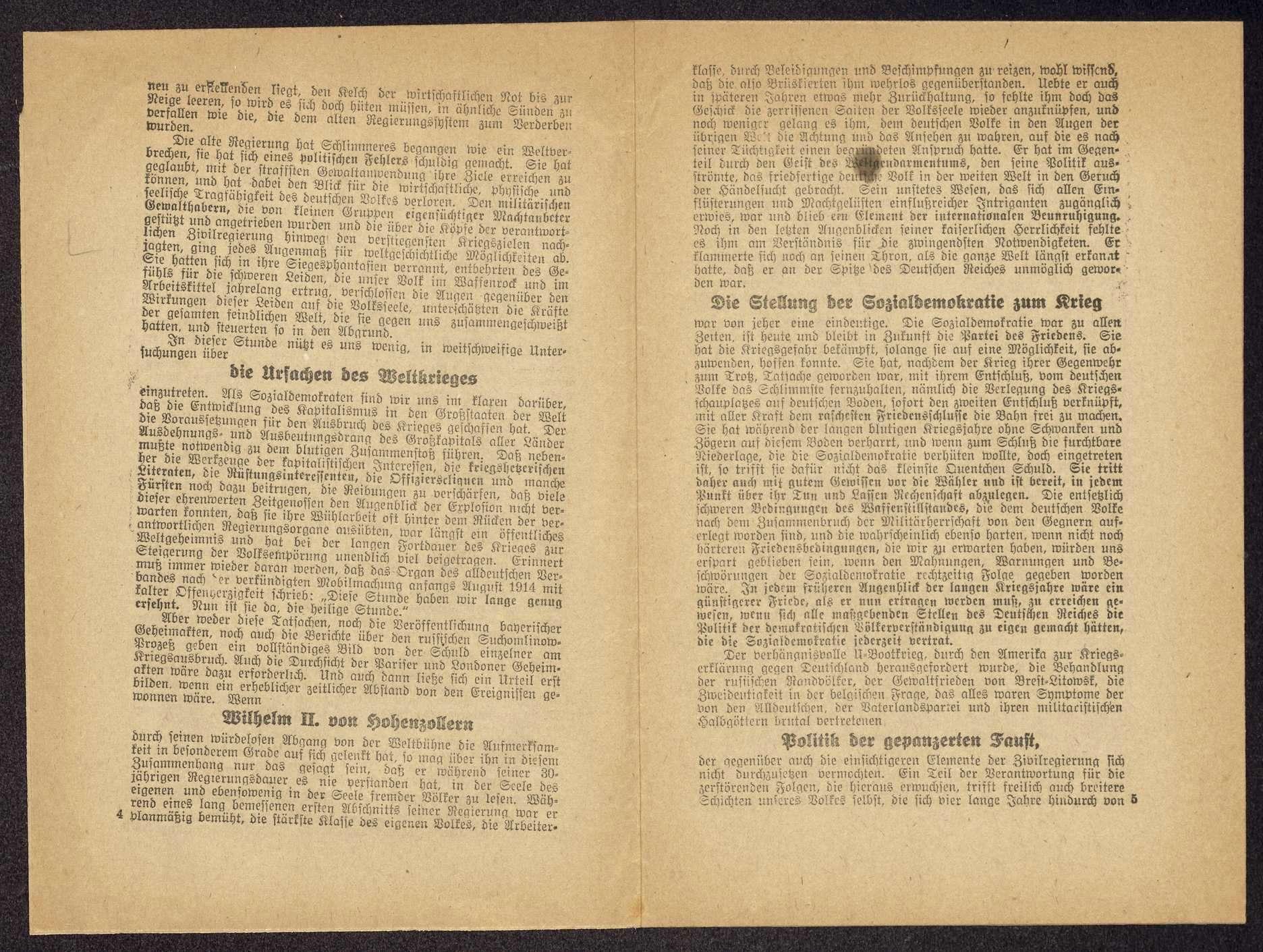 Wilhelm Keil: Die Sozialdemokratie und die Erneuerung Deutschlands. Vortrag ... auf der außerordentlichen Landesversammlung der Sozialdemokraten Württembergs am 21. Dezember 1918 (Schwäbische Tagwacht G.m.b.H., Stuttgart), Bild 3