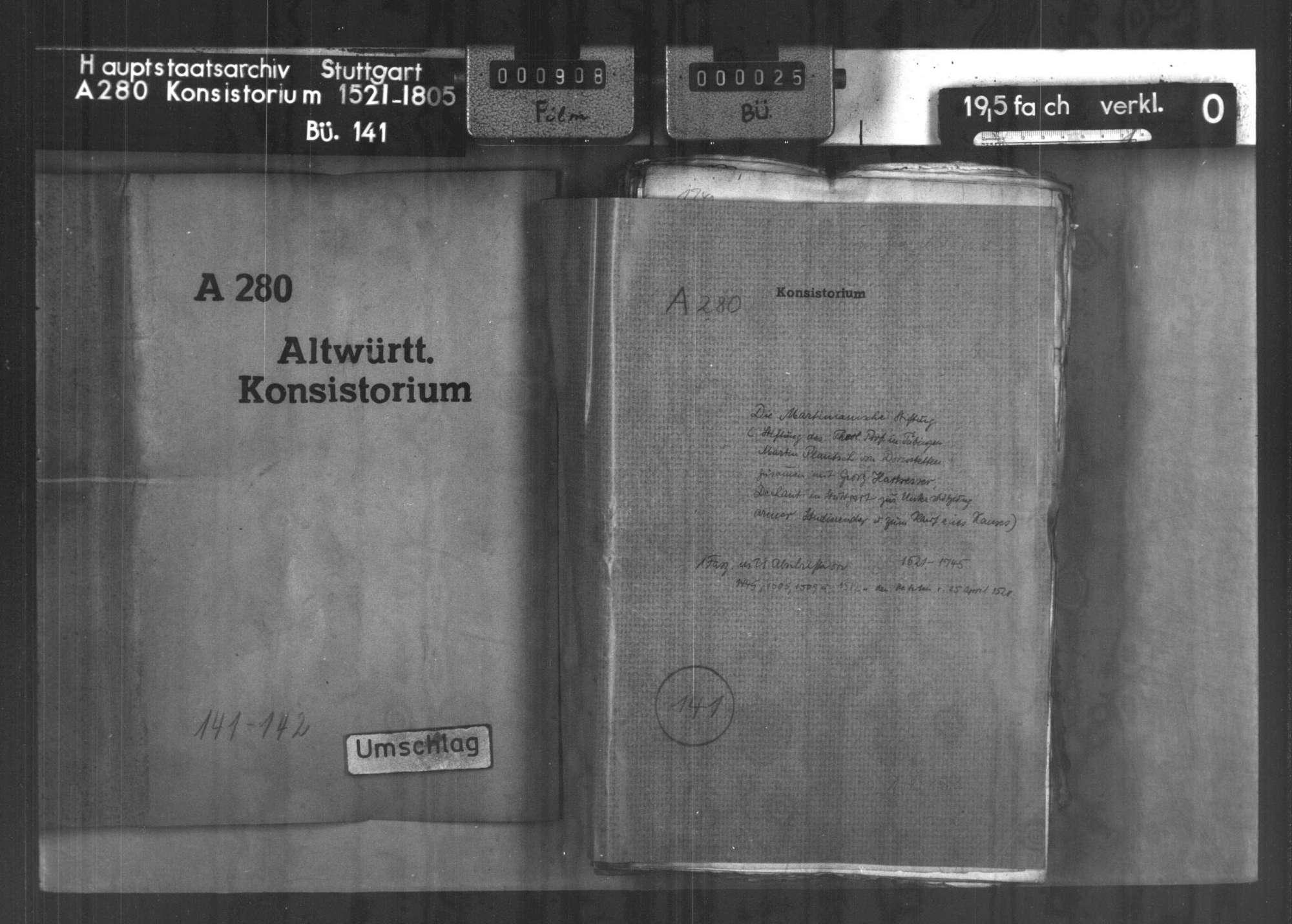 Martinianische Stiftung (Stiftung des Theol. Professors Martin Plantsch von Dornstetten zusammen mit Georg Hartsesser, Dechant aus Stuttgart, zur Unterstützung armer Studierender und zum Kauf eines Hauses),, Bild 1