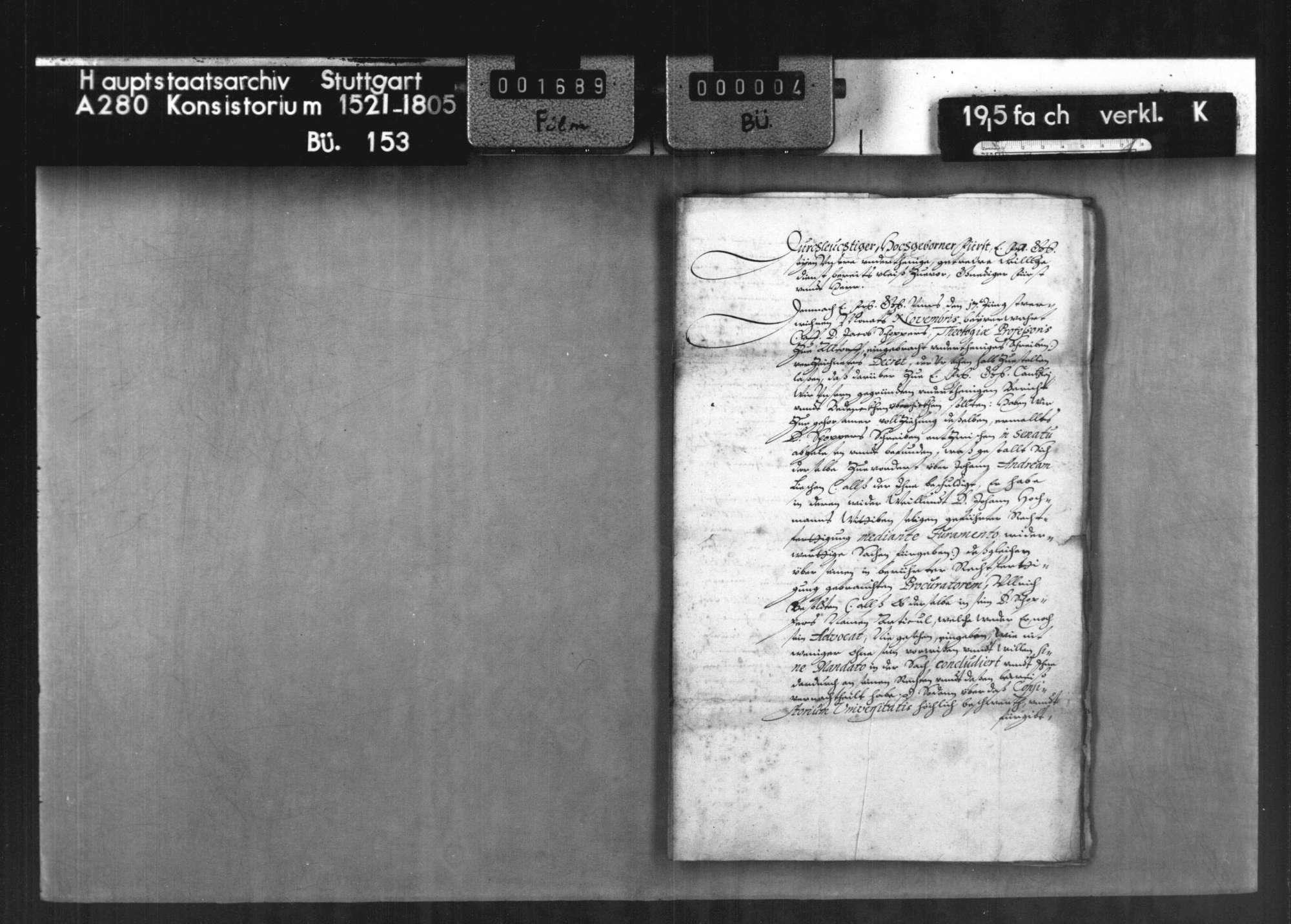 Prozesssache des Dr. Jacob Schopper, Professor der Theologie zu Altdorf, wegen des Anspruchs auf die ihm von seinem Vetter J. Hochmann angeblich als Leget vermachte Mühle zu Derendingen, Bild 3