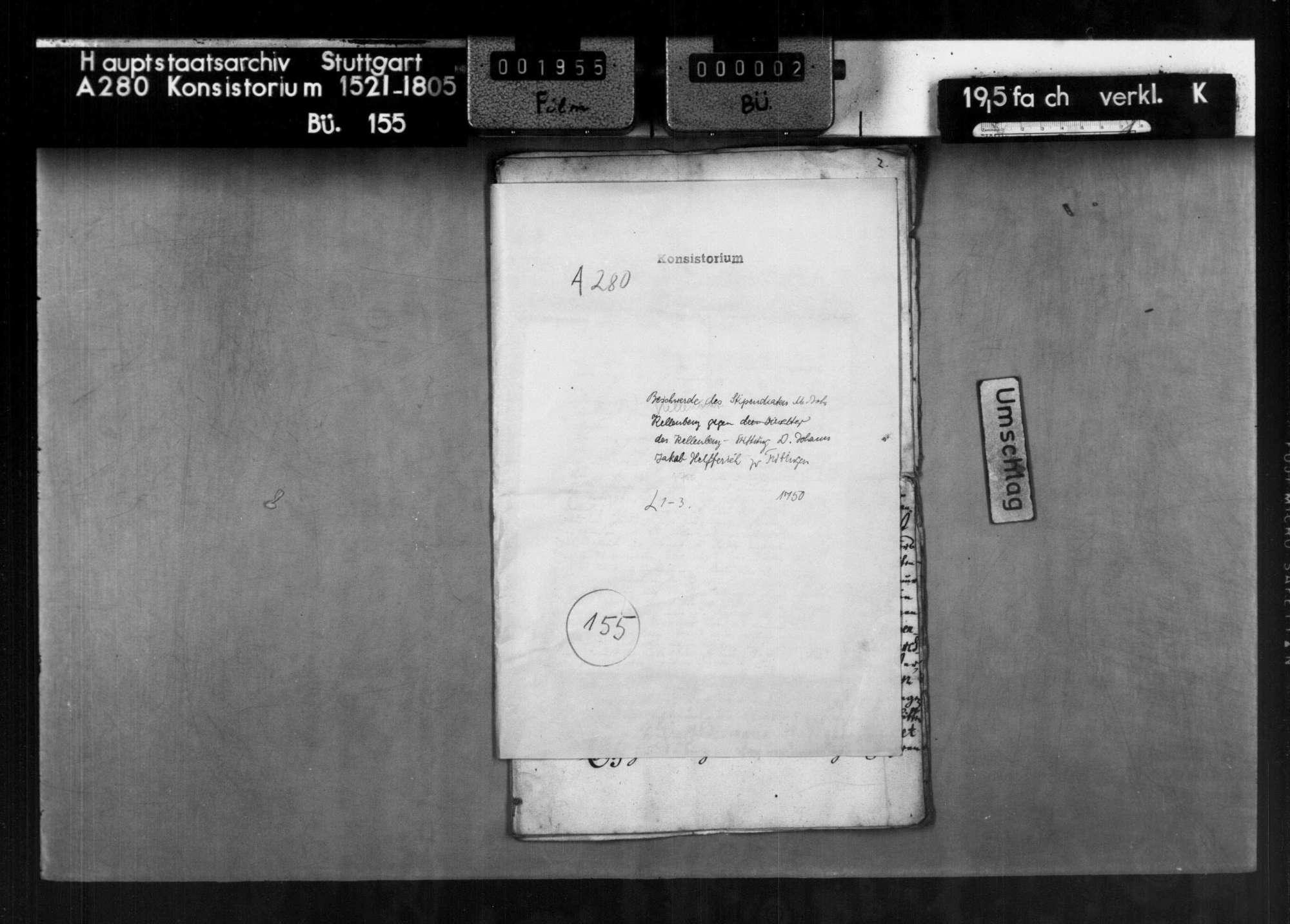 Stiftung des Fürstbischofs von Speyer Graf August von Limpurg-Styrum zur Univesität Tübingen über Akten und Druckschriften sowie 2000 fl. Kapital zur Unterstützung des Studiums der kath. Jugend, Bild 1