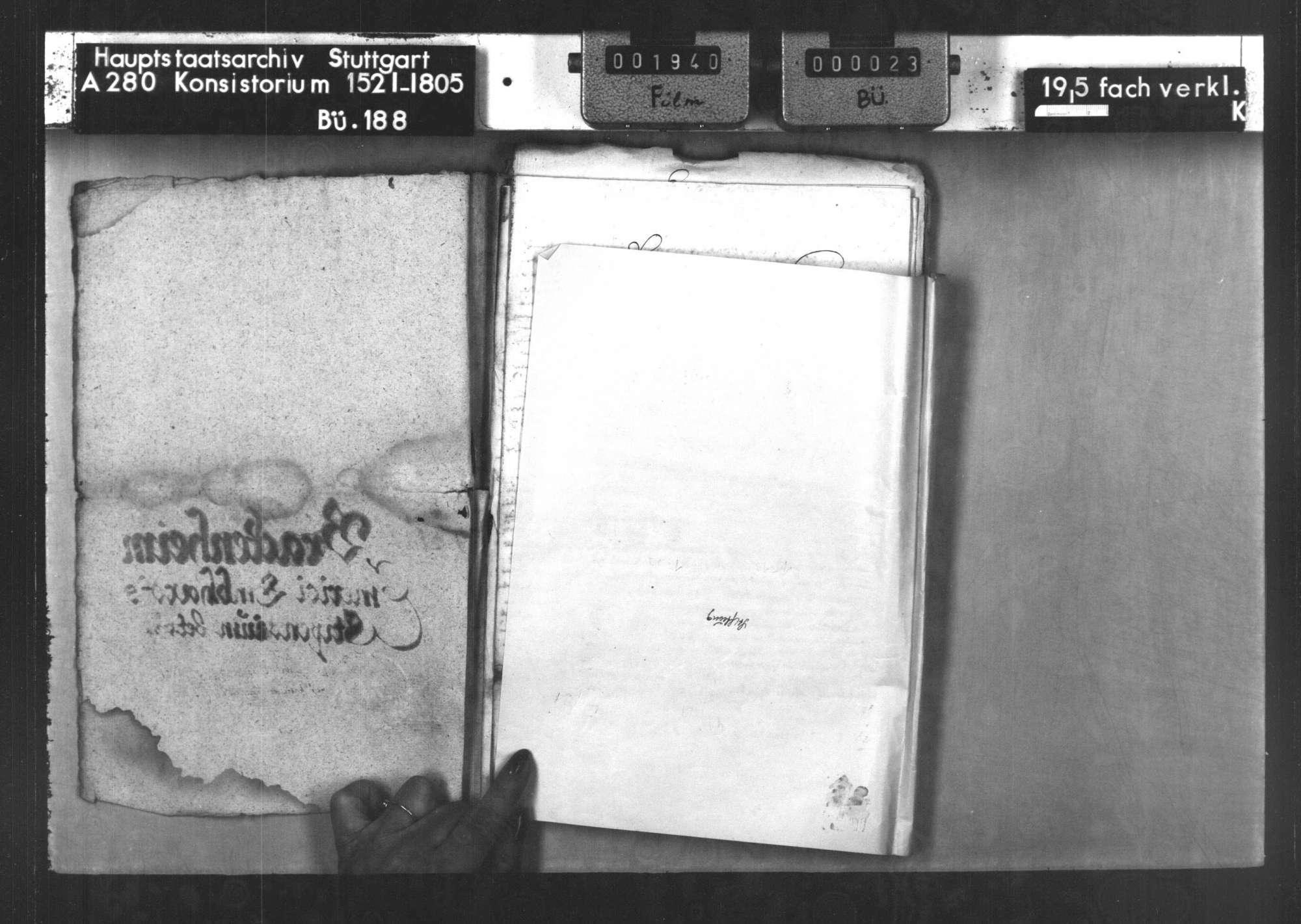 Die Stiftung des Priesters Emerikus Emhardt von Brackenheim zum Studium von 4 Bürgersöhnen von Brackenheim und Hausen auf der Universität Tübingen, Bild 2