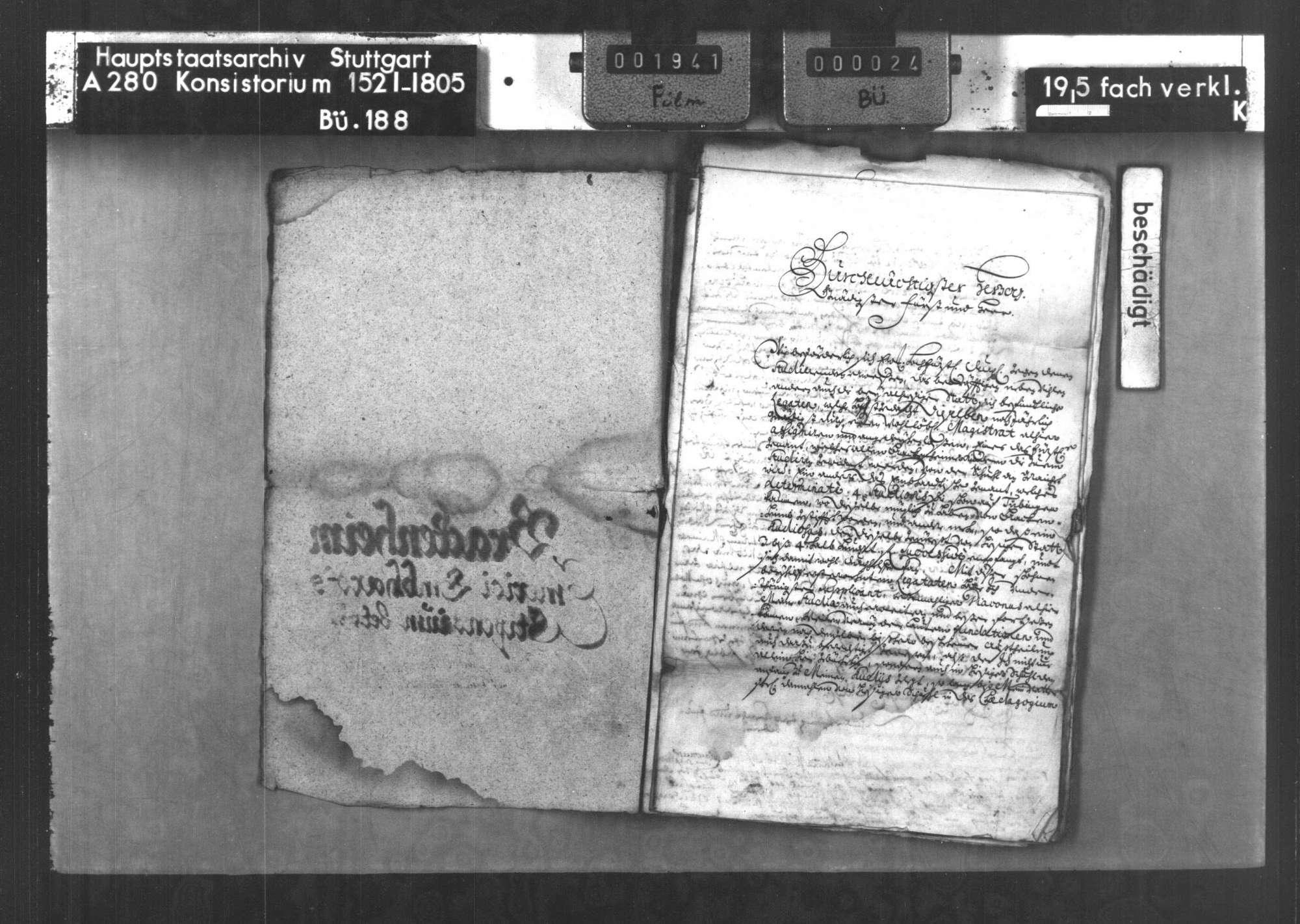 Die Stiftung des Priesters Emerikus Emhardt von Brackenheim zum Studium von 4 Bürgersöhnen von Brackenheim und Hausen auf der Universität Tübingen, Bild 3