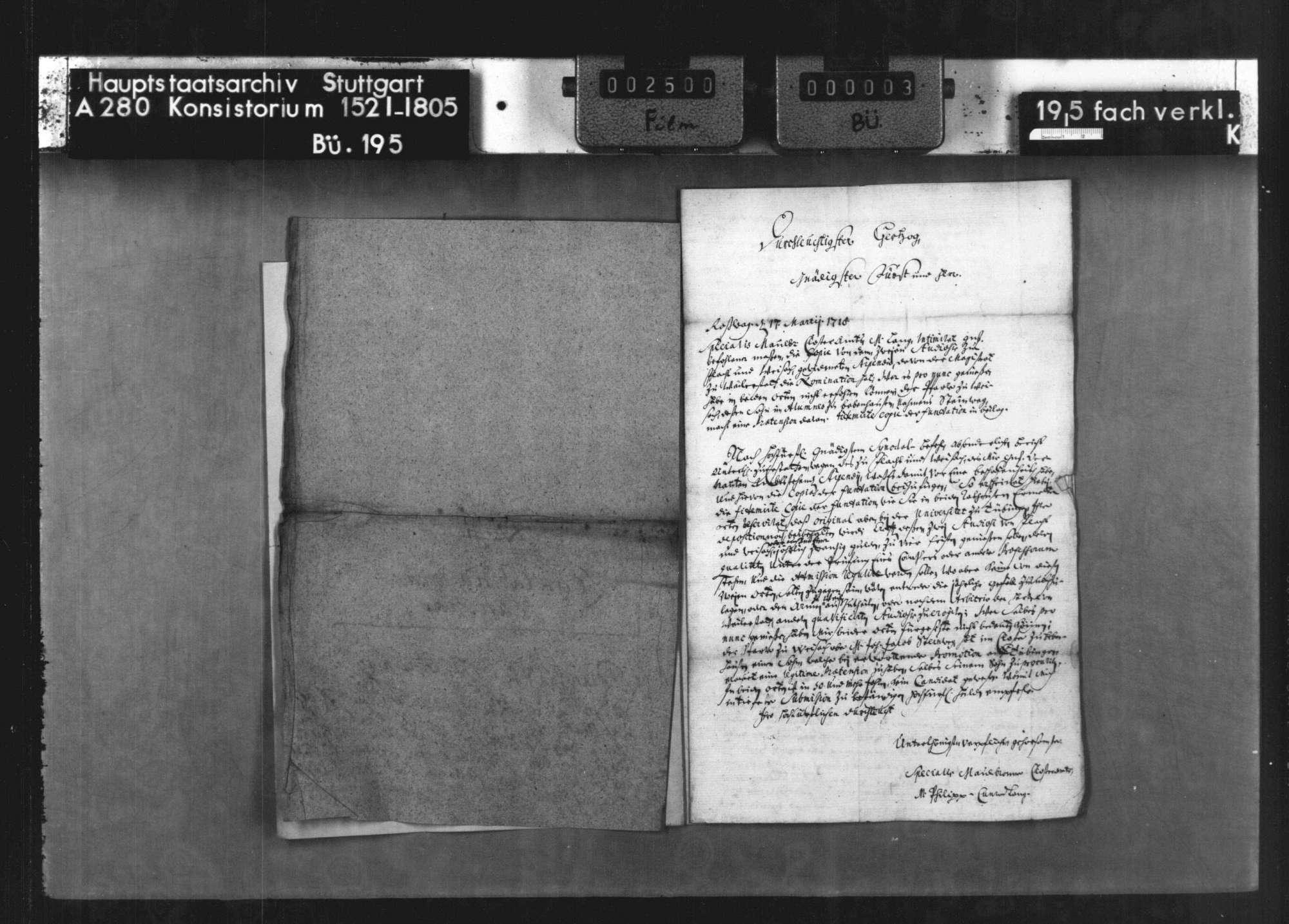Berichte des Spezials des Klosteramts Maulbronn M. Lang betr. die Stiftung des Rudolf Ruef, Pfarrherr zu Flacht, von 1494, Bild 3