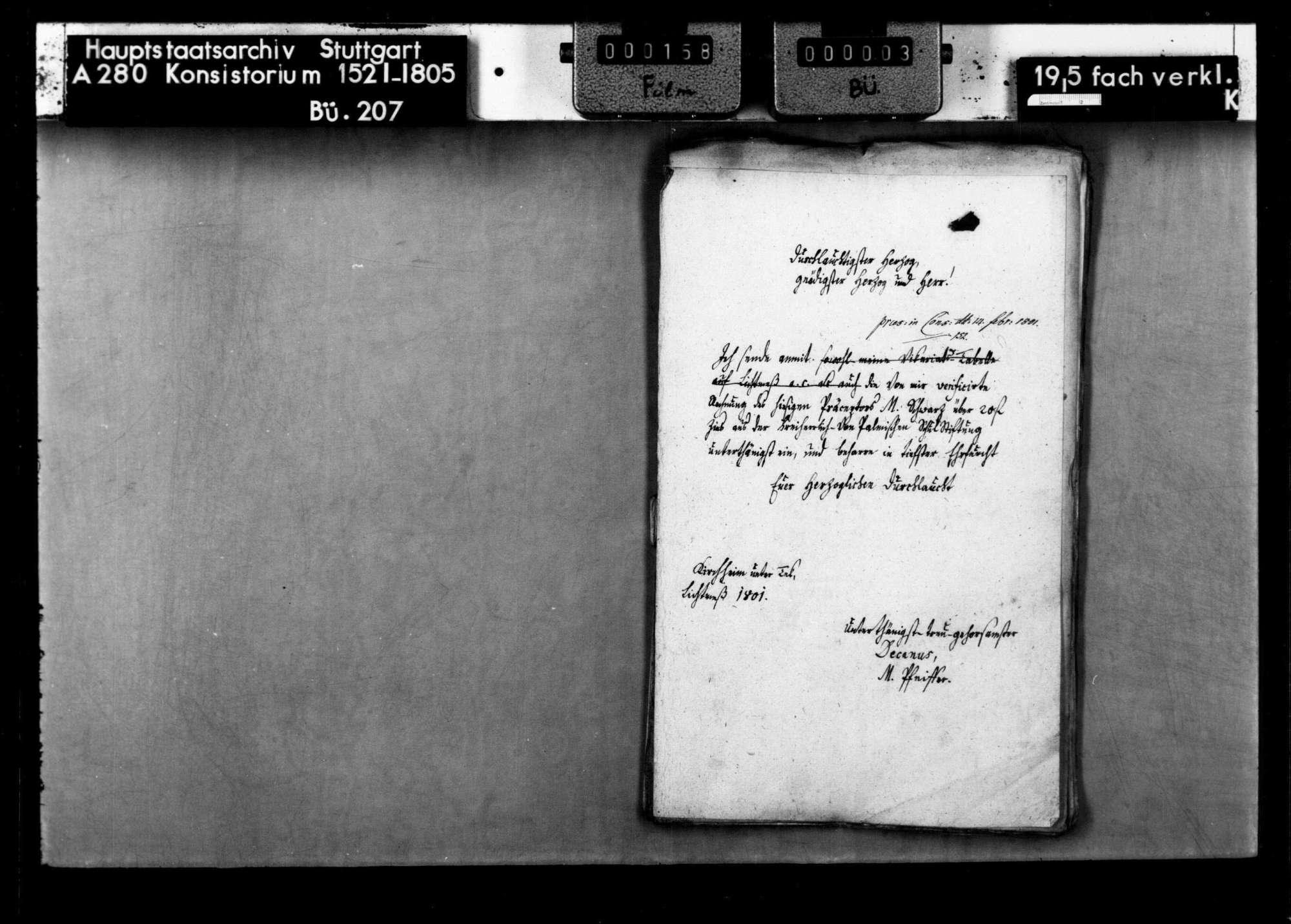 Stiftung des Christoph Heinrich Frh. von Palm für die Lateinschule in Kircheim/Teck, Bild 3