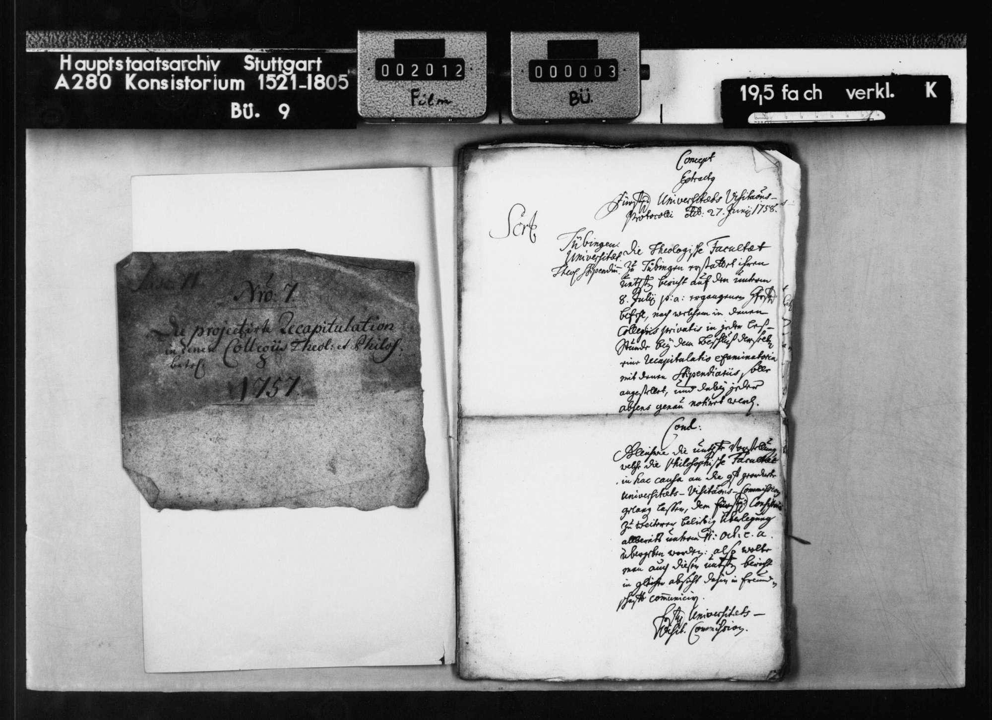 Maßnahmen theologischen und Philosophischen Fakultät., Bild 2