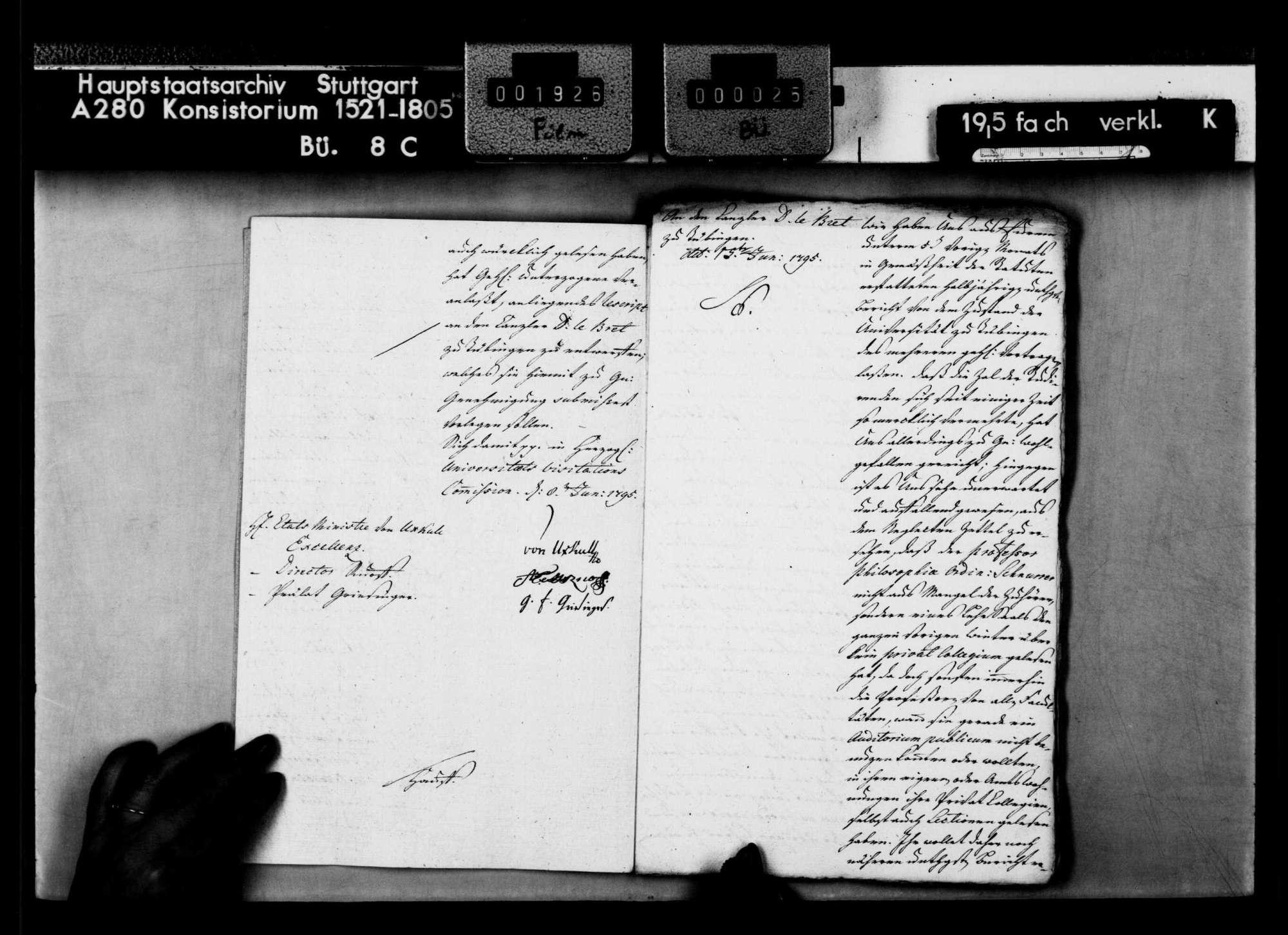 Berichte des Kanzlers D. le Bret über den Zustand an der Universität., Bild 3