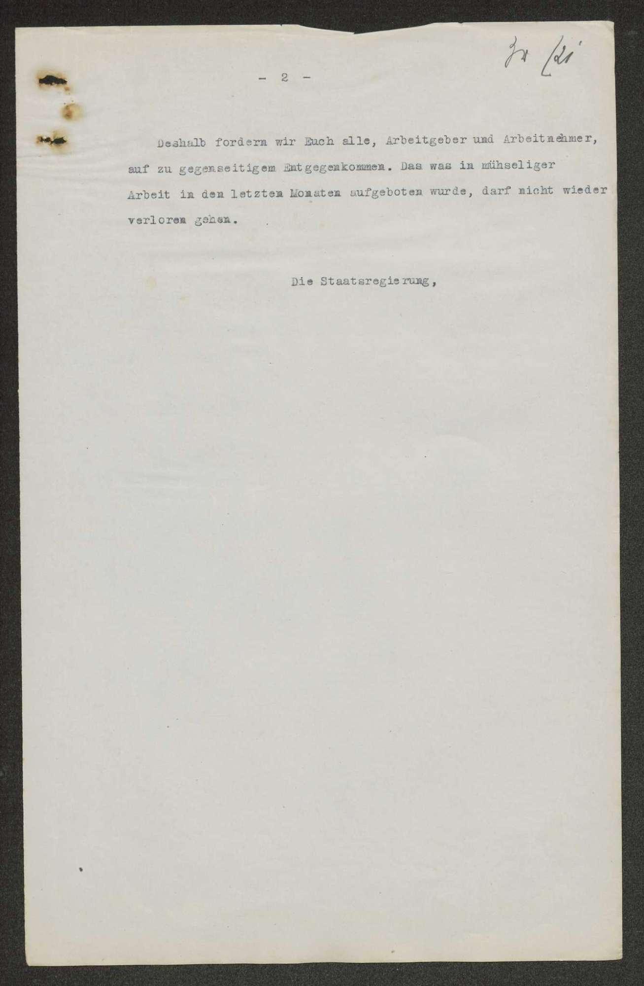 Aufrufe, Anordnungen, Verordnungen, Erlasse usw. der Provisorischen Regierung, die im Zusammenhang mit der Staatsumwälzung vom 09.11.1918 ergangen sind, Bild 3