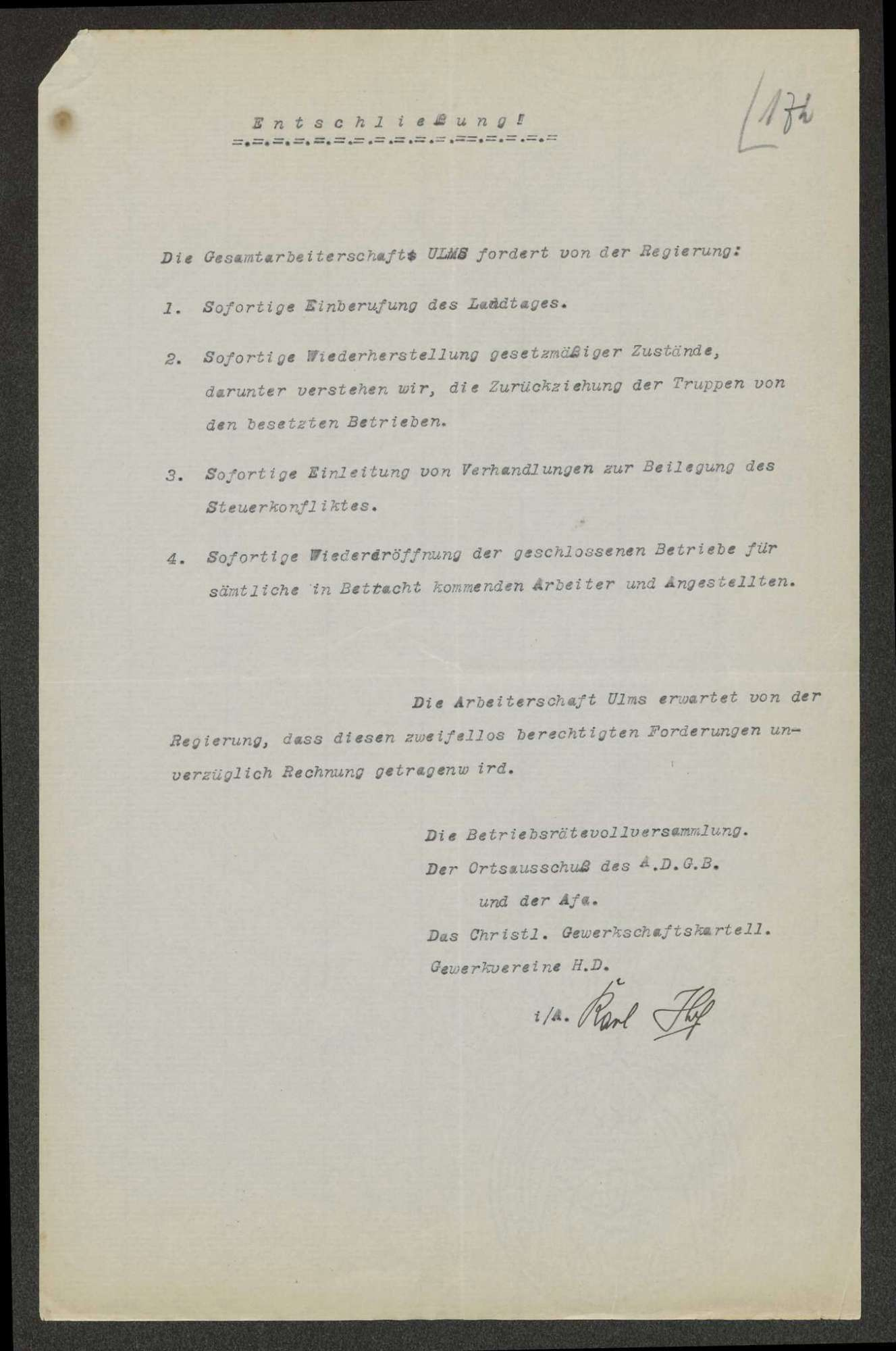 Innere Unruhen: Generalstreik vom 26. August bis 04. September 1920, Bild 2
