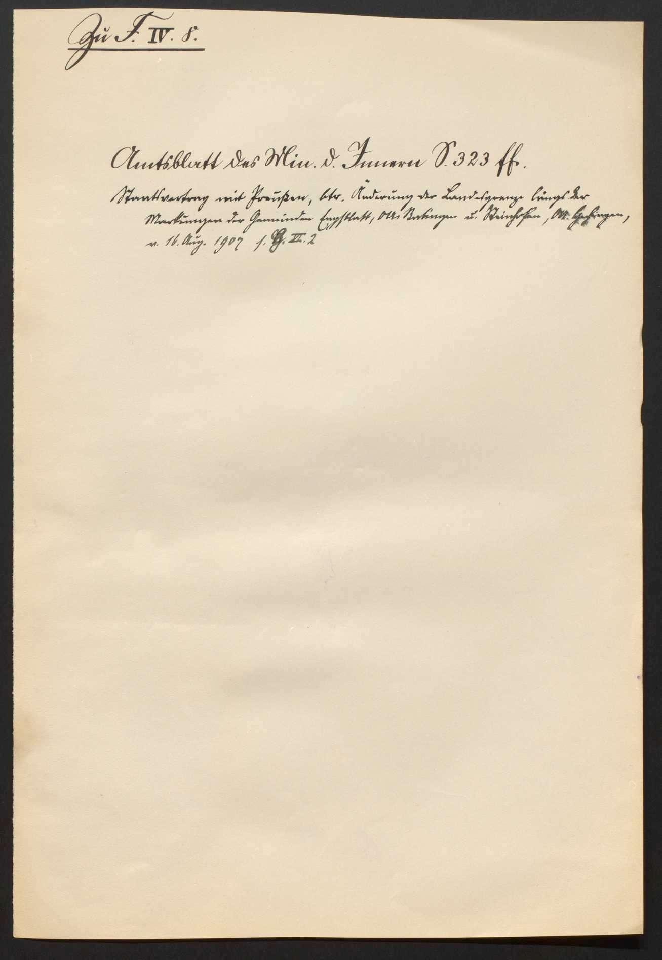 Vereinbarung mit Preußen wegen der Landesgrenze gegen Hohenzollern, Bild 2