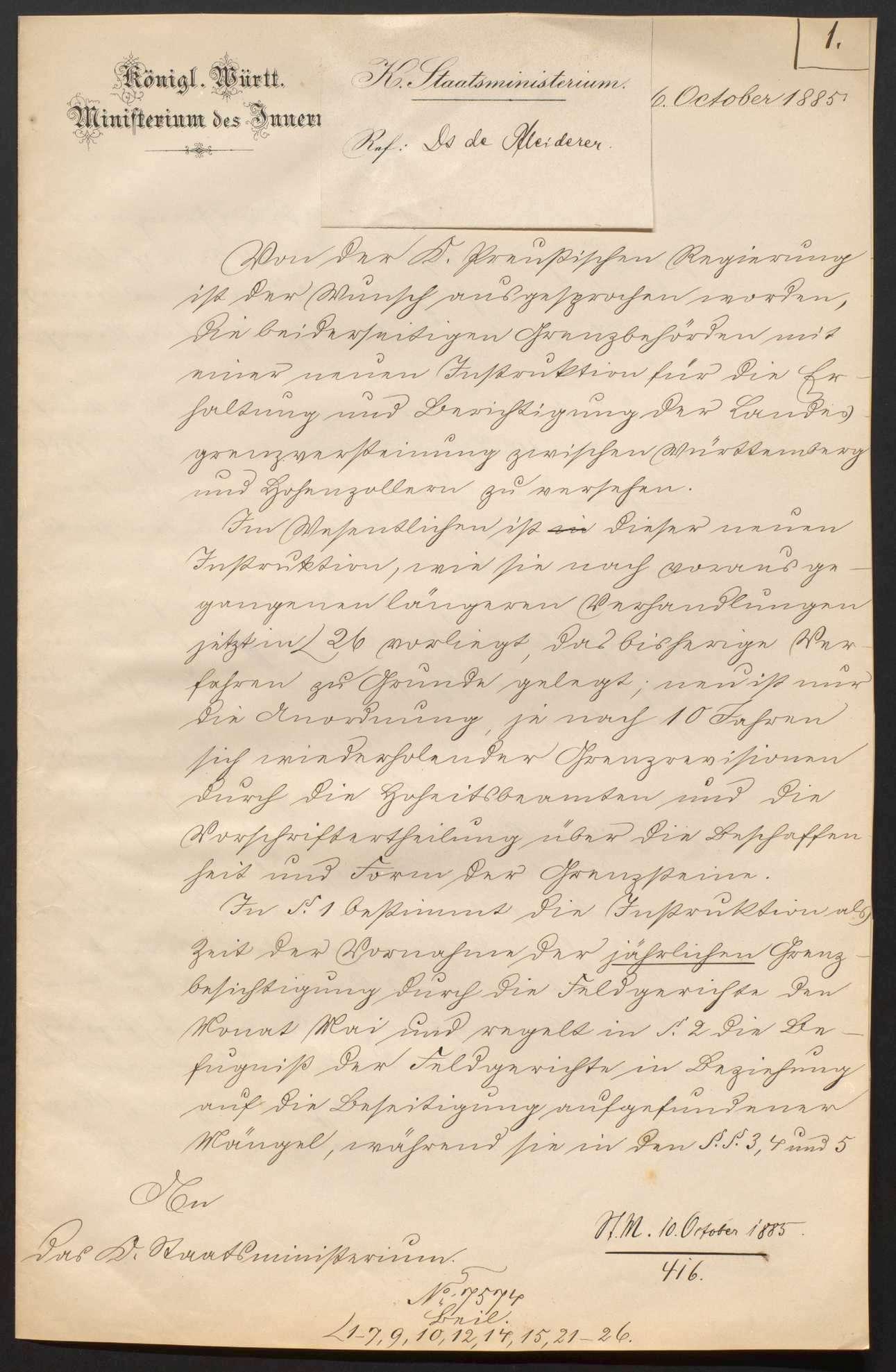Vereinbarung mit Preußen wegen der Landesgrenze gegen Hohenzollern, Bild 3