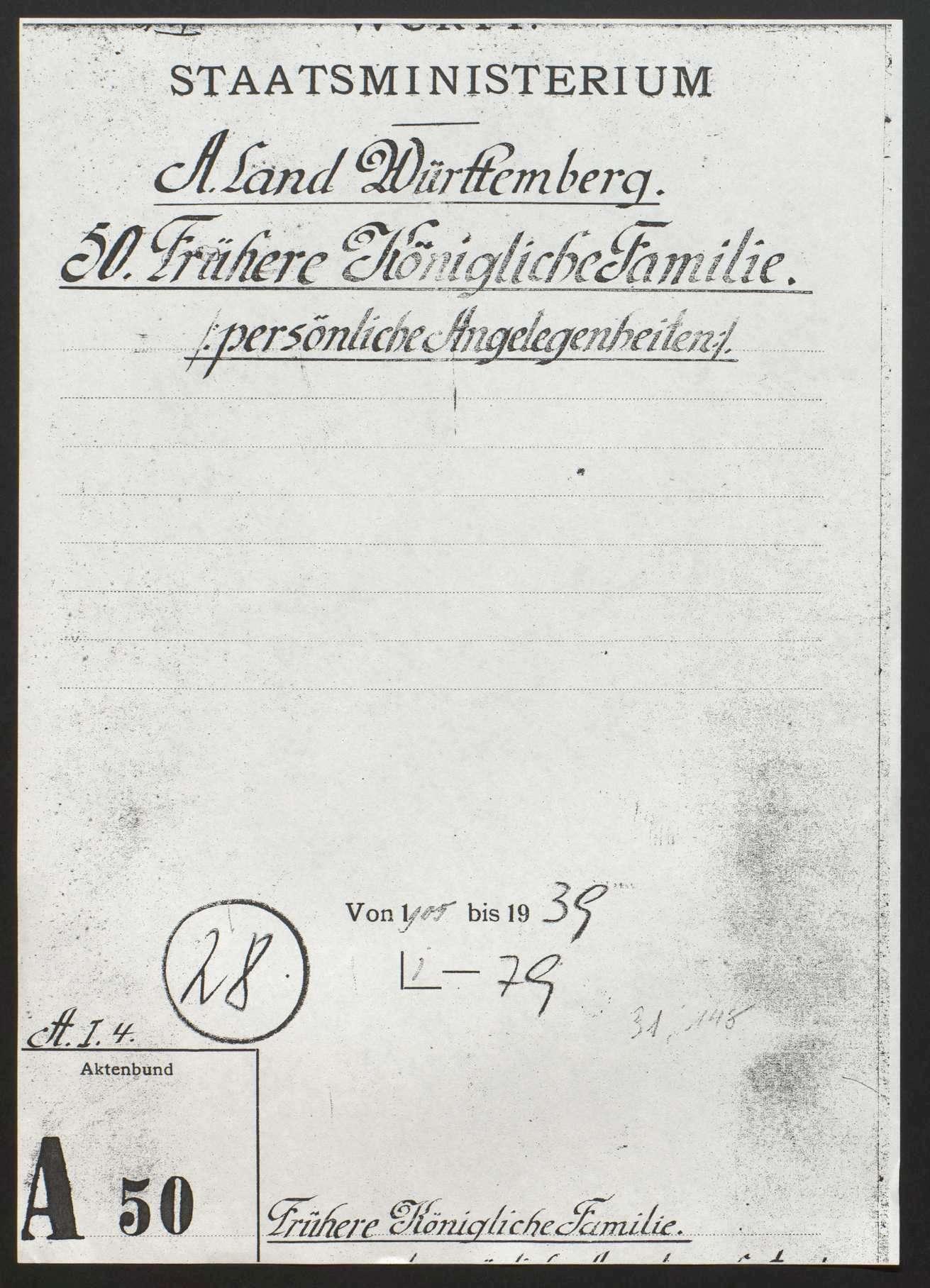 König-Karl-Jubiläum-Stiftung anläßlich des 25jährigen Regierungsjubiläums König Karls, Bild 1