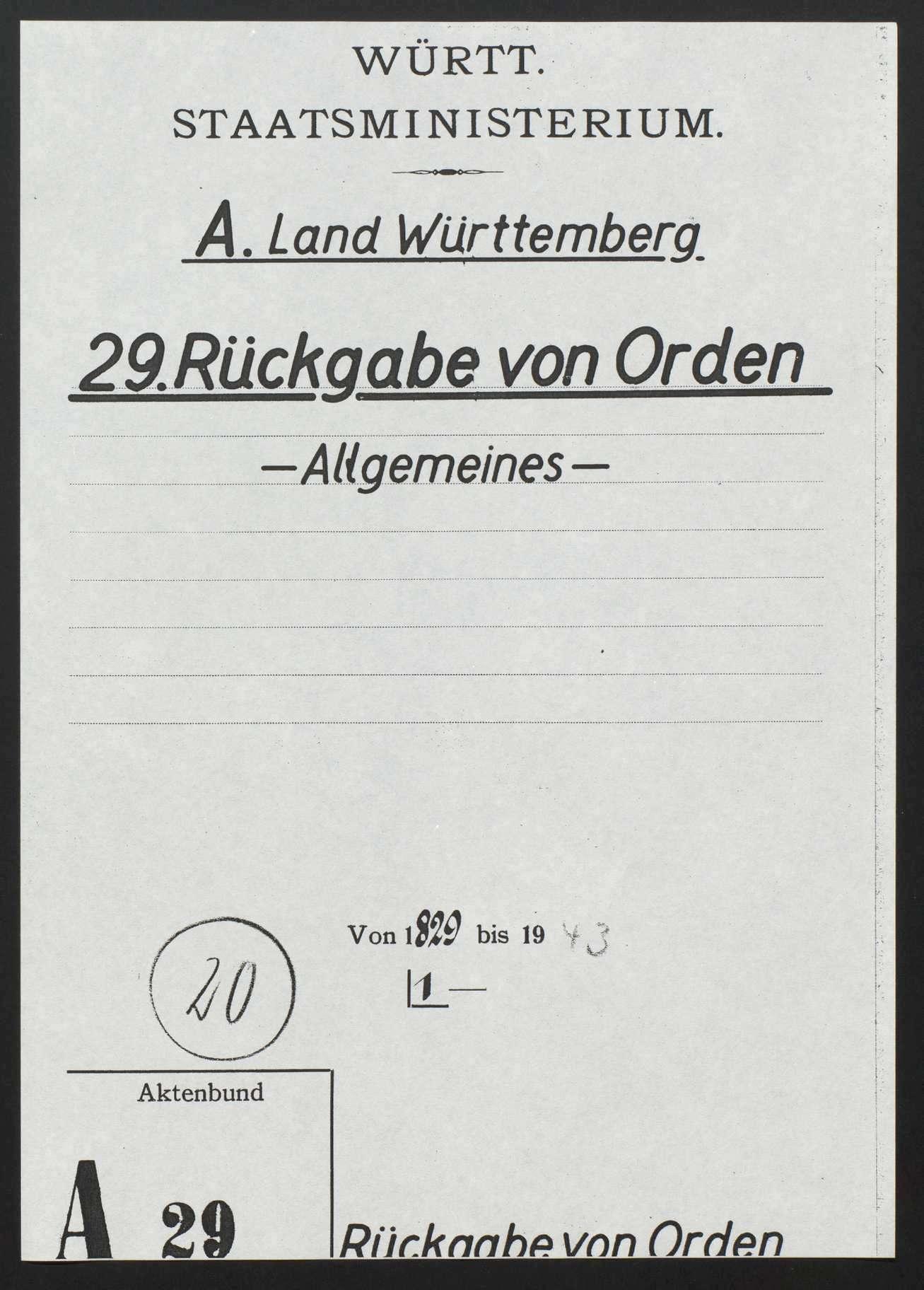 Rückgabe von Orden und Ehrenzeichen (Allgemeines), Bild 1
