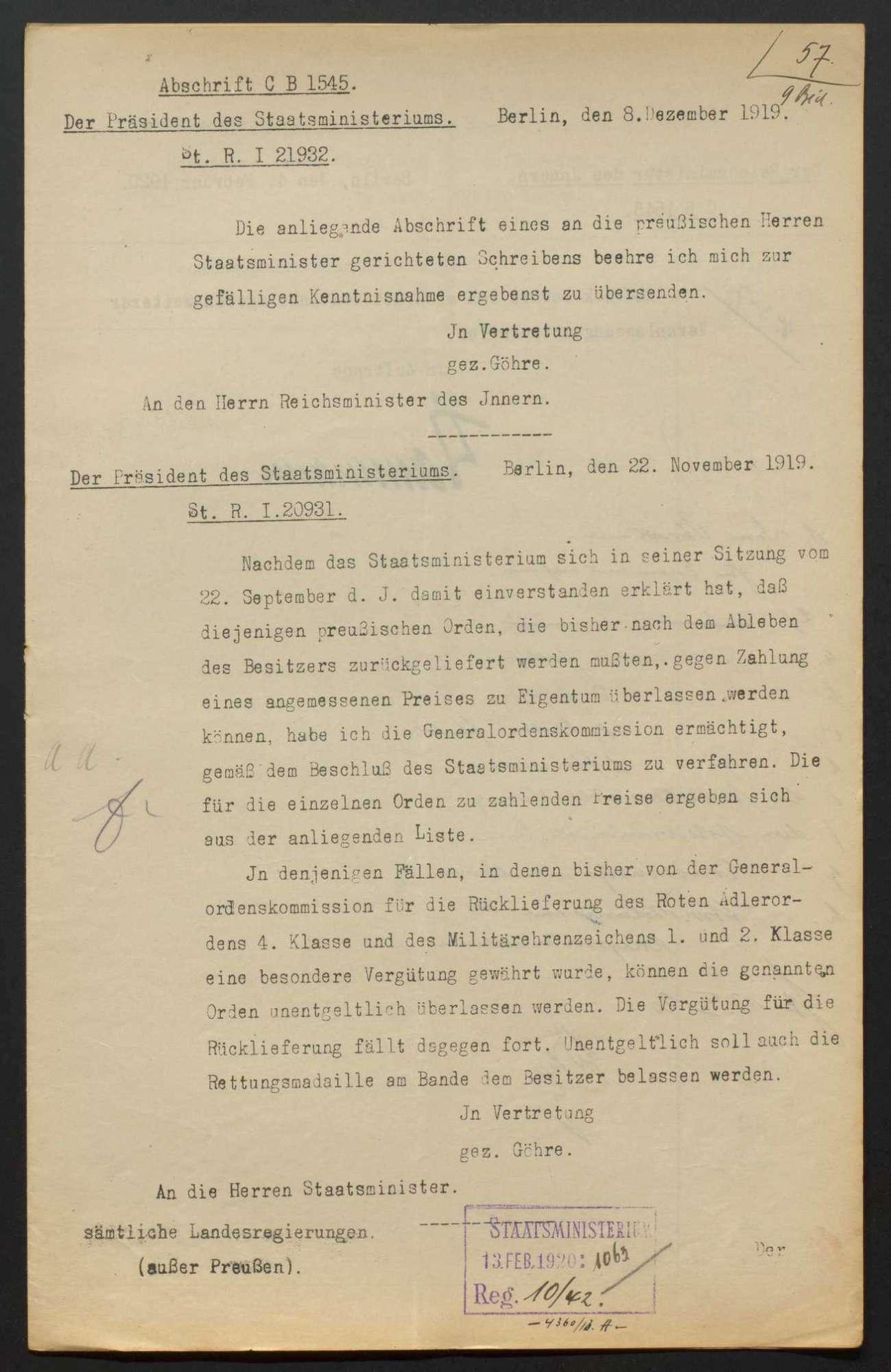 Rückgabe von Orden und Ehrenzeichen (Allgemeines), Bild 2