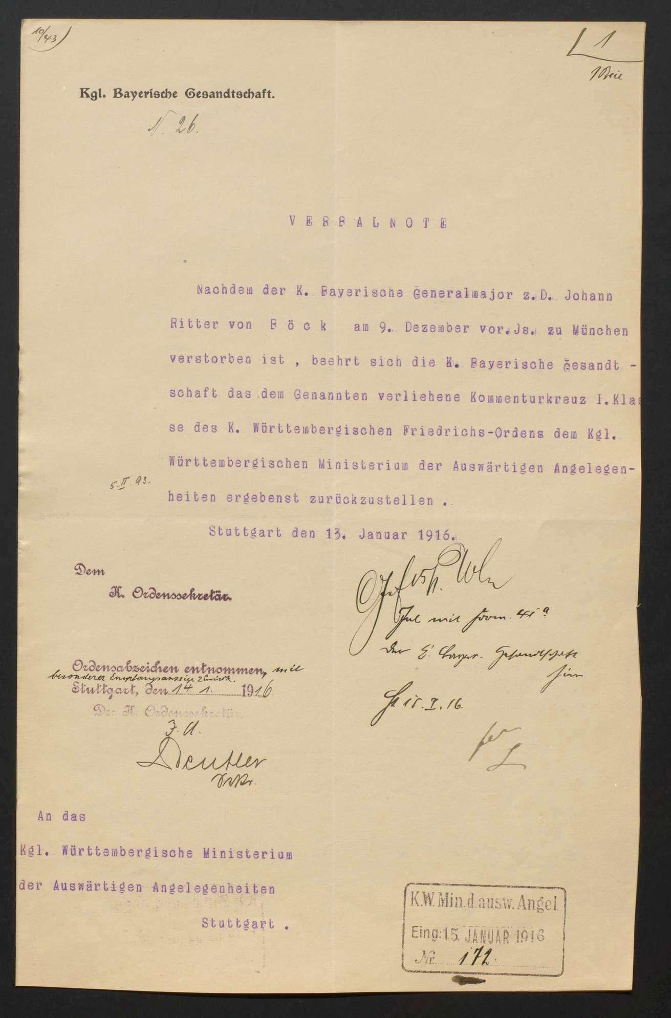 Rückgabe württembergischer Orden, Bild 2