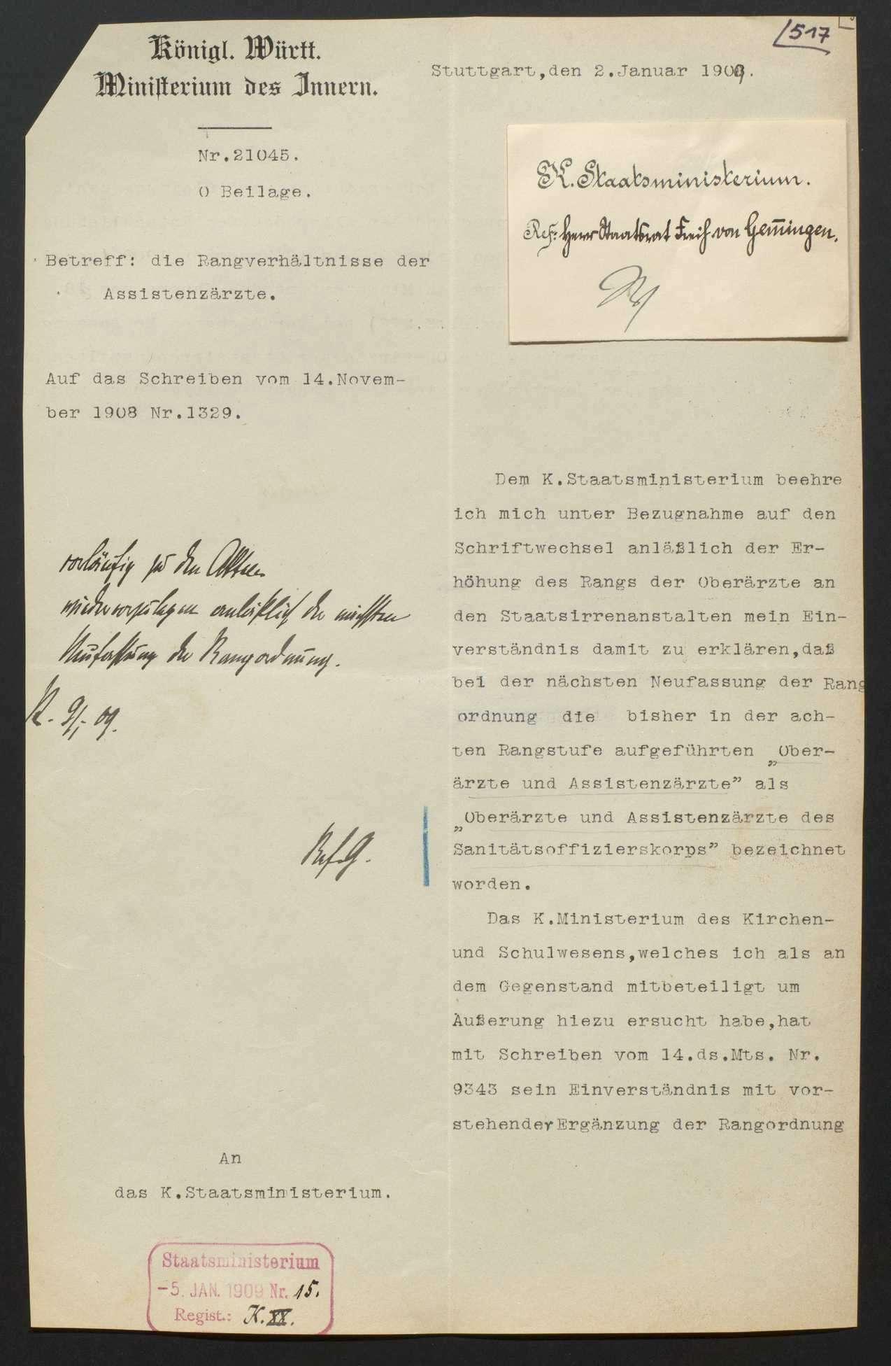 Hof- und Staatshandbuch: Neuausgaben, Änderungen der Rangordnung, Bild 1