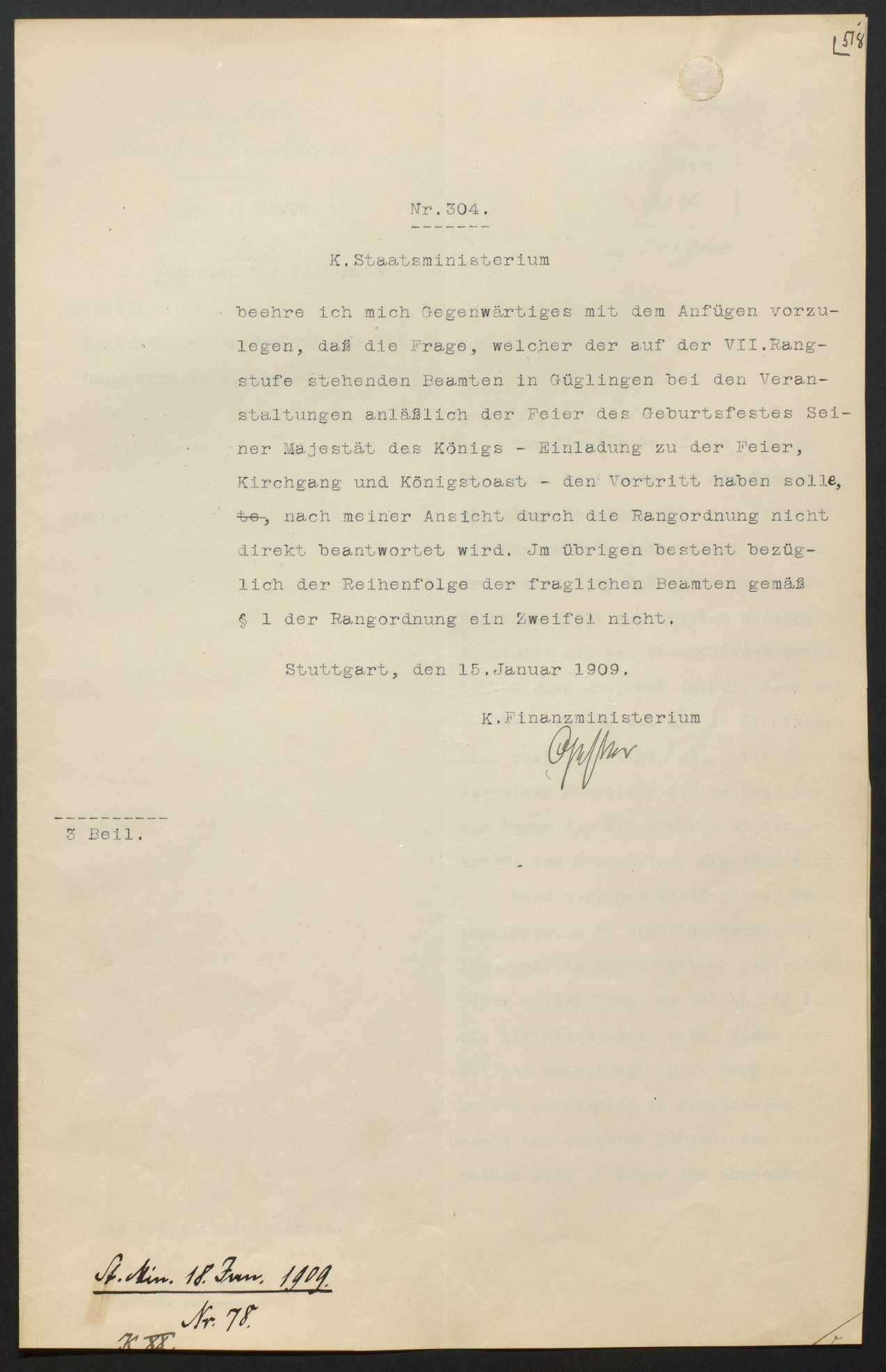 Hof- und Staatshandbuch: Neuausgaben, Änderungen der Rangordnung, Bild 3