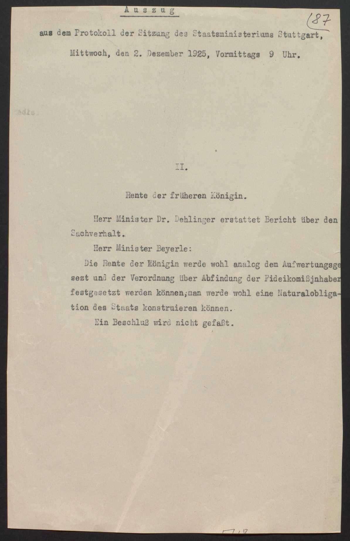 Vermögensauseinandersetzung zwischen dem württembergischen Staat und dem Haus Württemberg, Bild 2