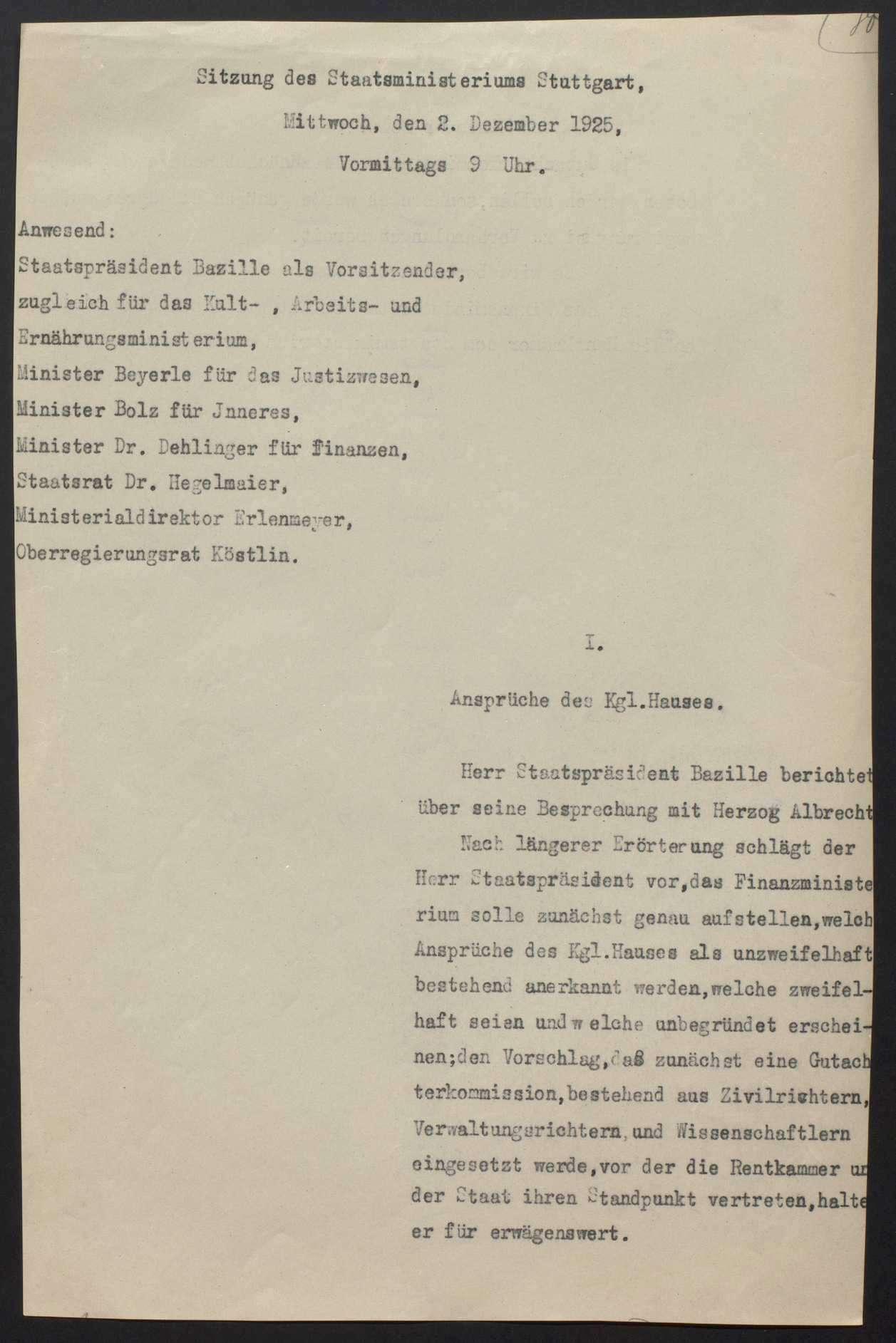 Vermögensauseinandersetzung zwischen dem württembergischen Staat und dem Haus Württemberg, Bild 3