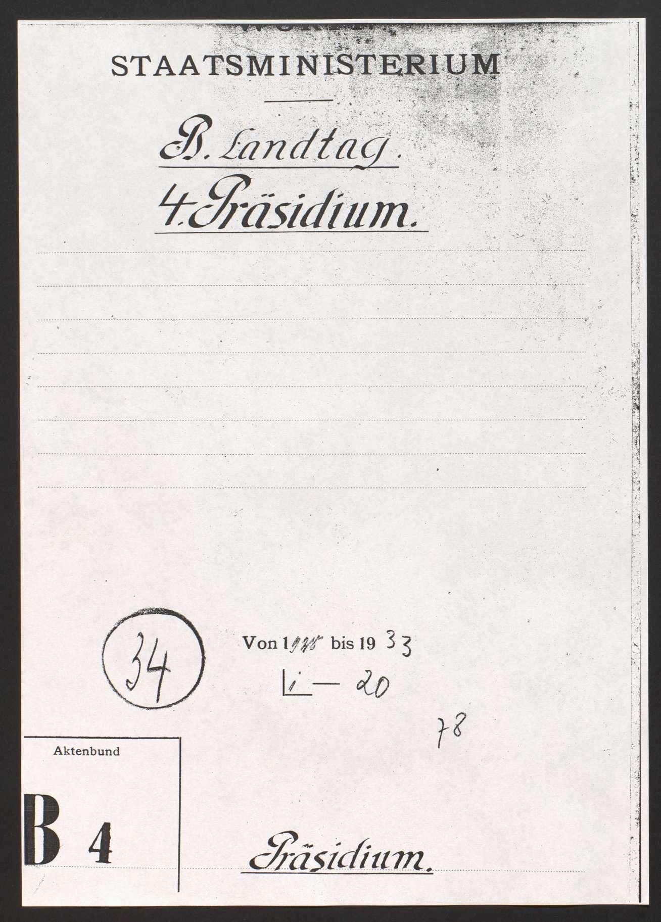 Präsidium, Wahl des Landtagspräsidenten, des Vizepräsidenten und der Schriftführer, Bild 1