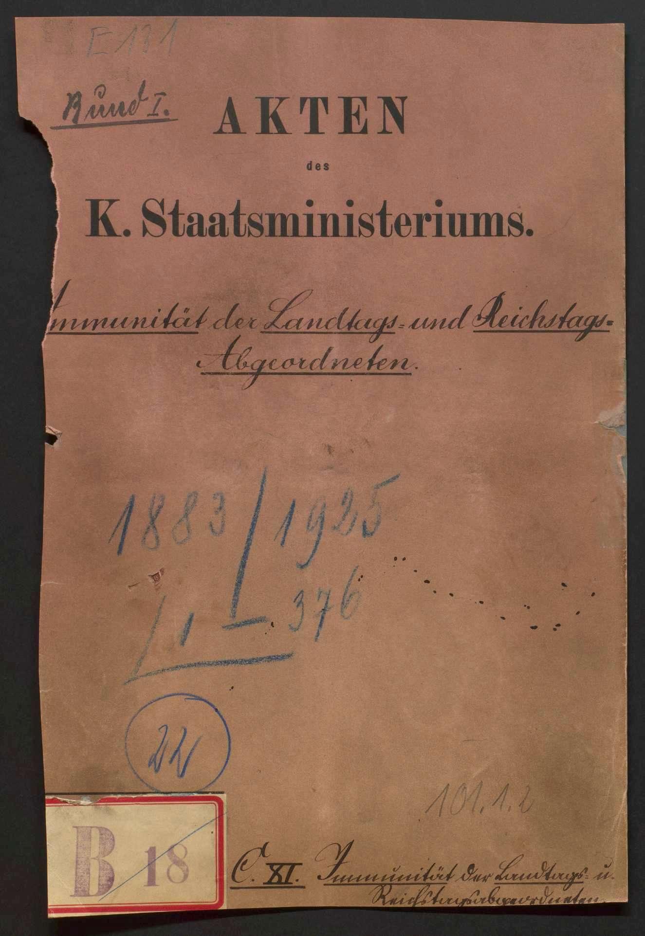 Immunität der Reichs- und Landtagsabgeordneten, Bild 1