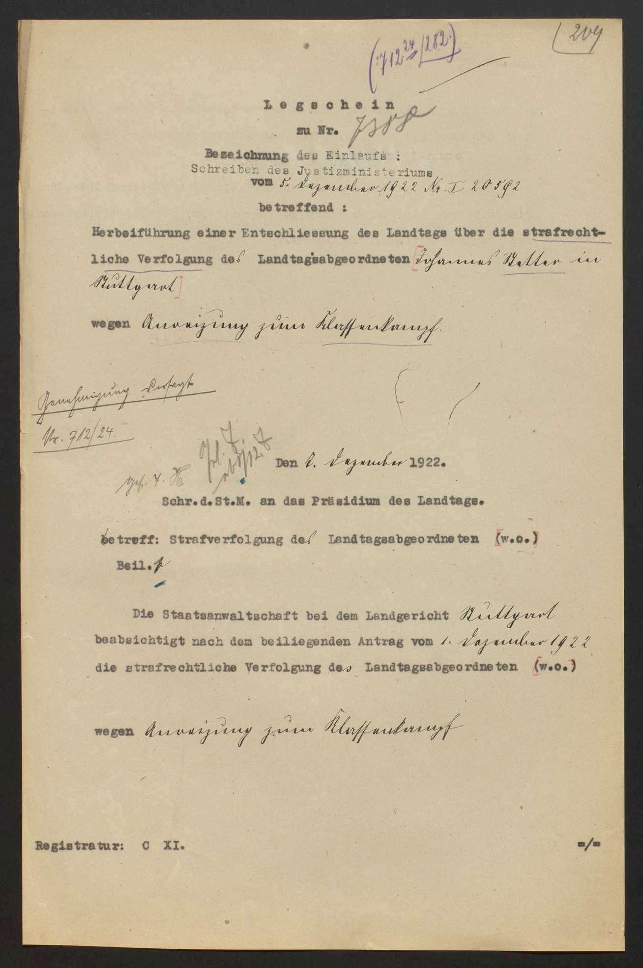 Immunität der Reichs- und Landtagsabgeordneten, Bild 3