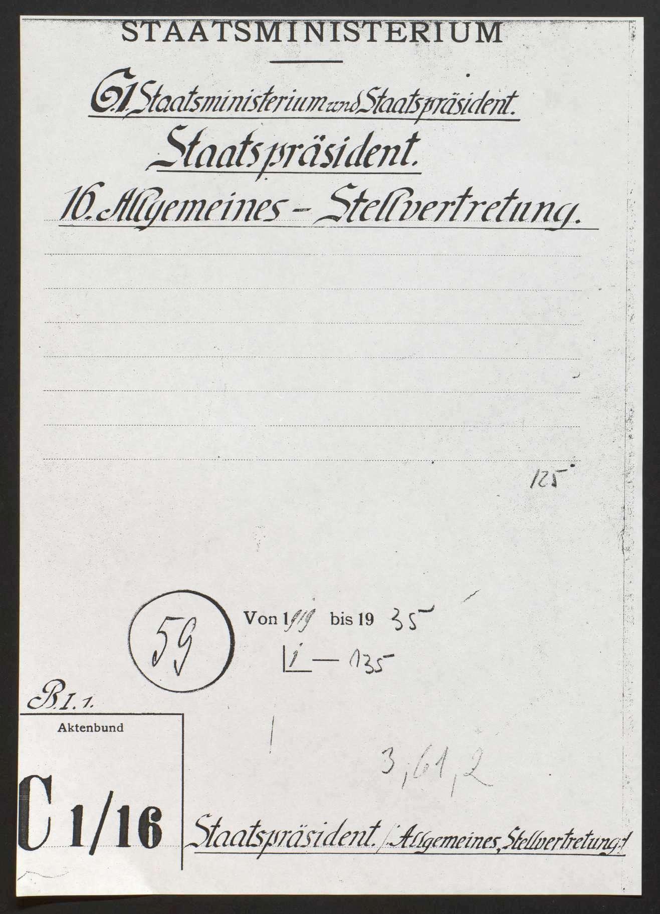 Staats- bzw. Ministerpräsident: Allgemeines, Stellvertretung, Bild 1