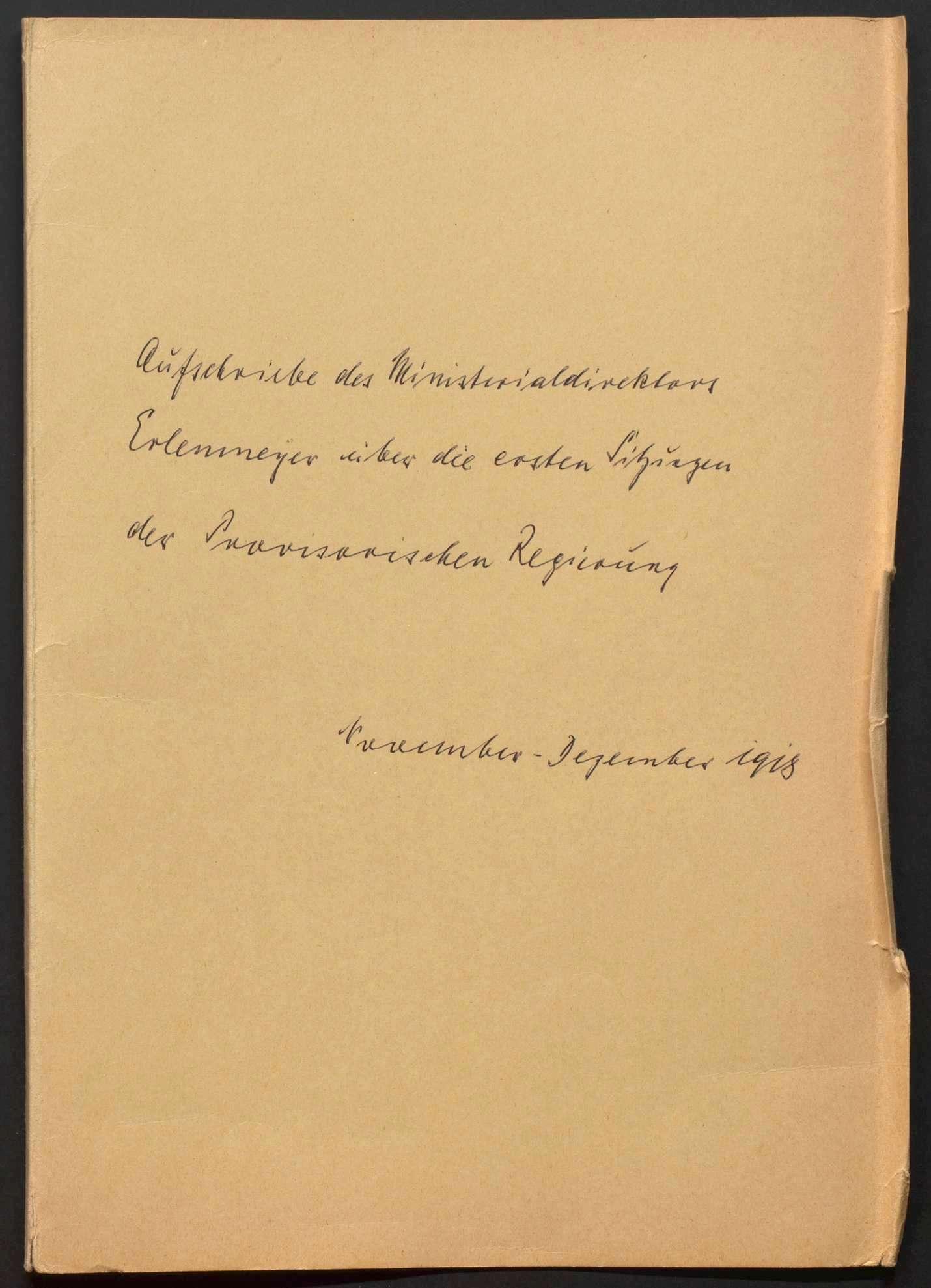 Niederschriften über Sitzungen des Staatsministeriums mit Beilagen, Bild 2