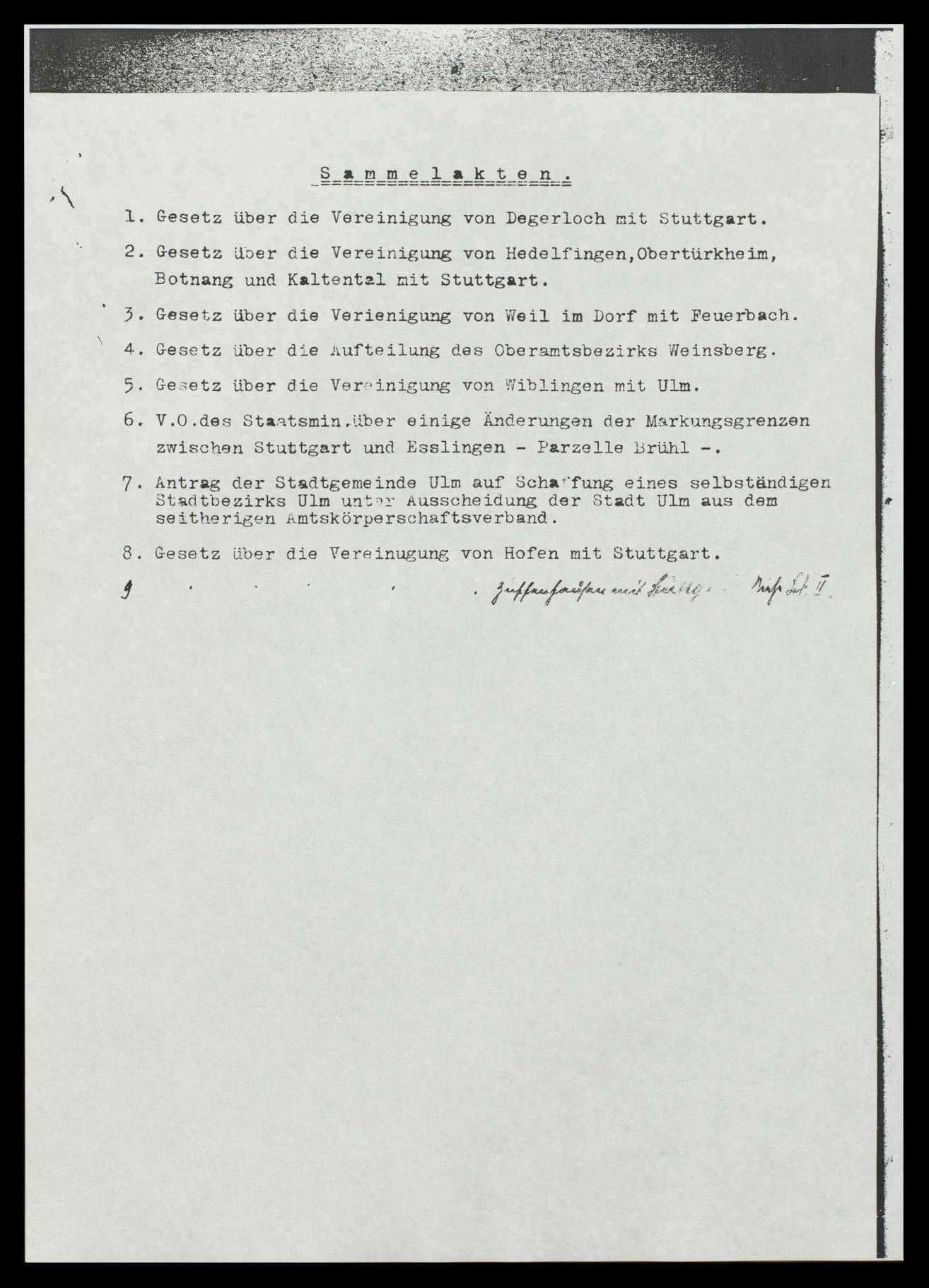 Allgemeines, Eingaben und Entschließungen zu einzelnen Gebietsänderungen von Gemeinden und Oberamtsbezirken, Bild 2