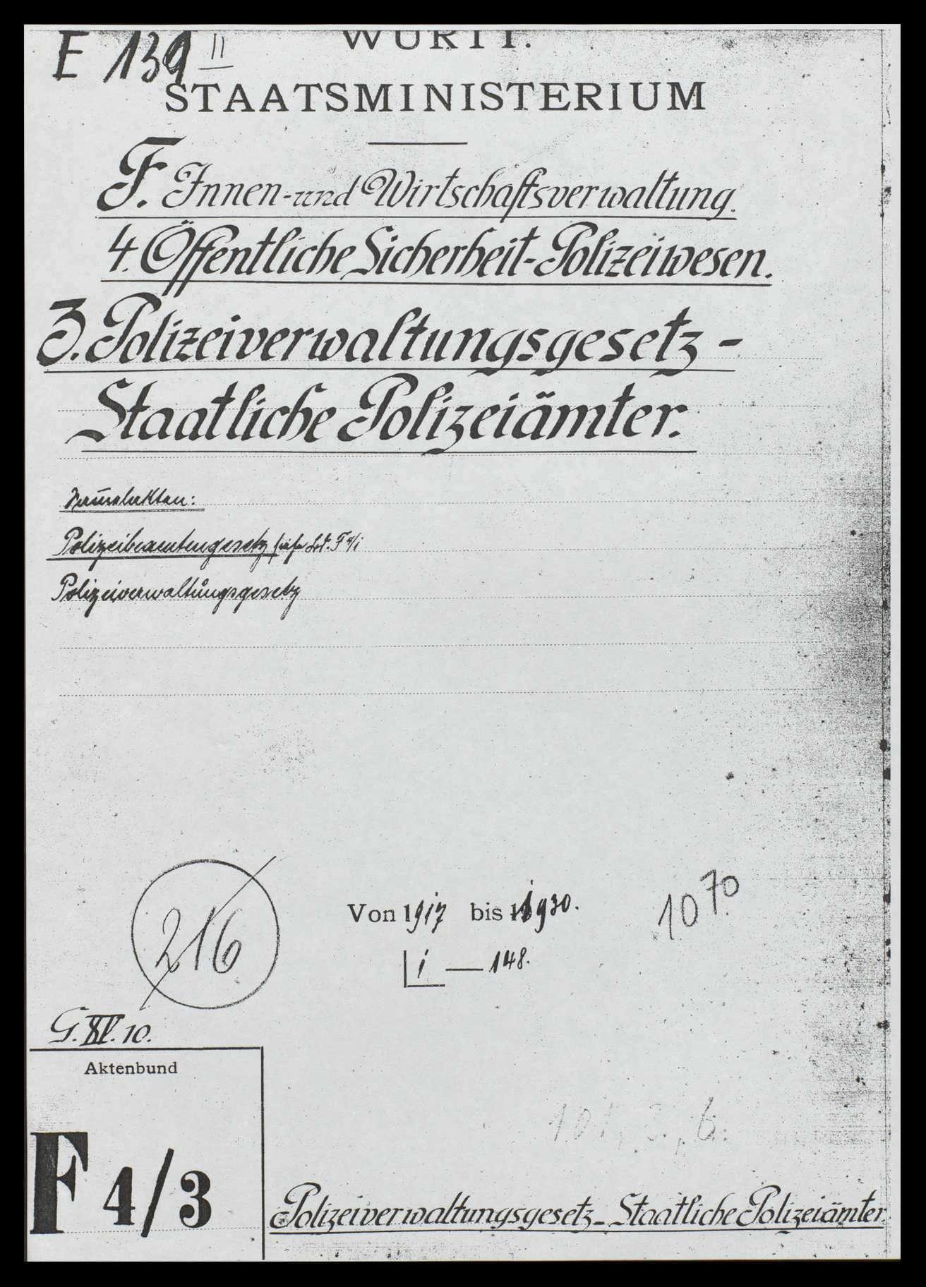 Organisation der Polizeiverwaltung, Bild 1