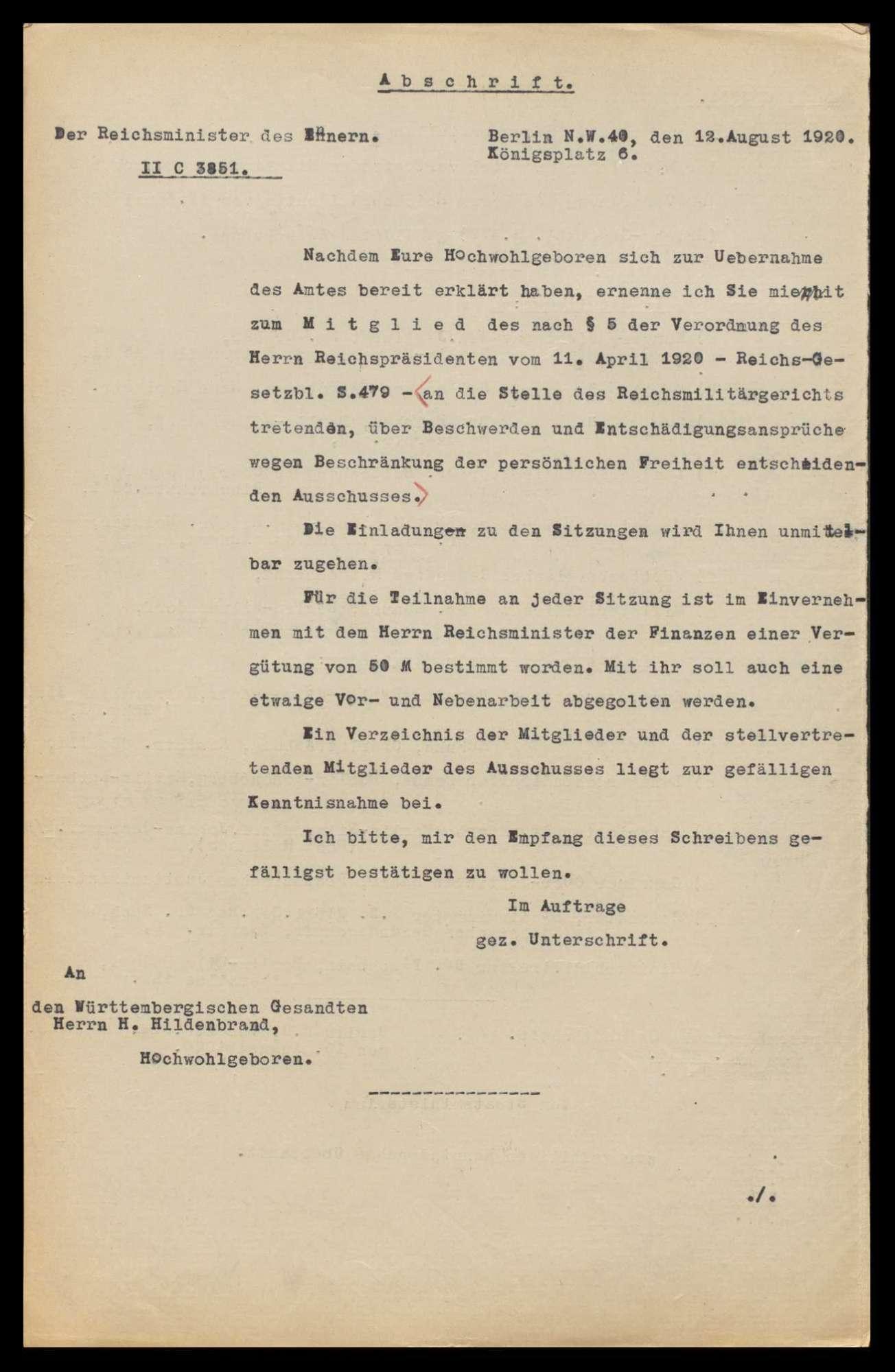 Bildung eines Reichsratsausschusses als Beschwerdeinstanz bei Verboten periodischer Druckschriften, Bild 3