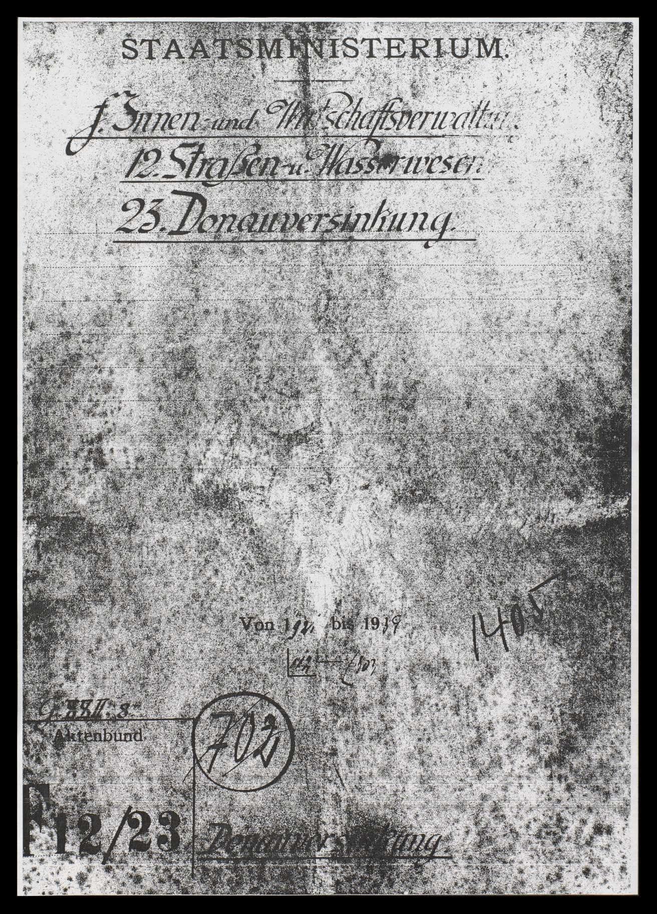 Donauversickerung zwischen Immendingen und Möhringen und sich daraus ergebende Probleme für die Anrainerstaaten, besonders für Württemberg und Baden, Bild 1