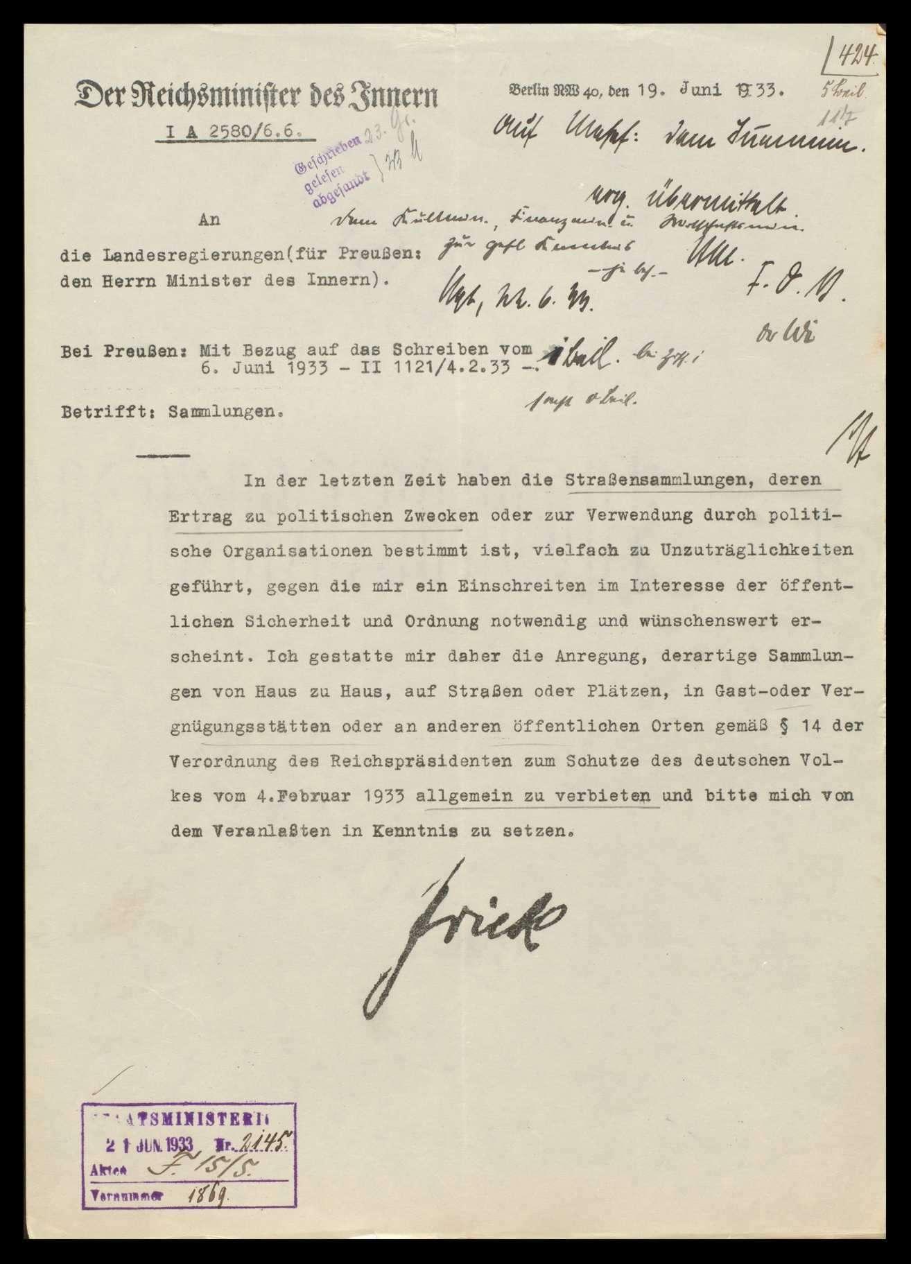 Sammlungen im Reich, Bild 1
