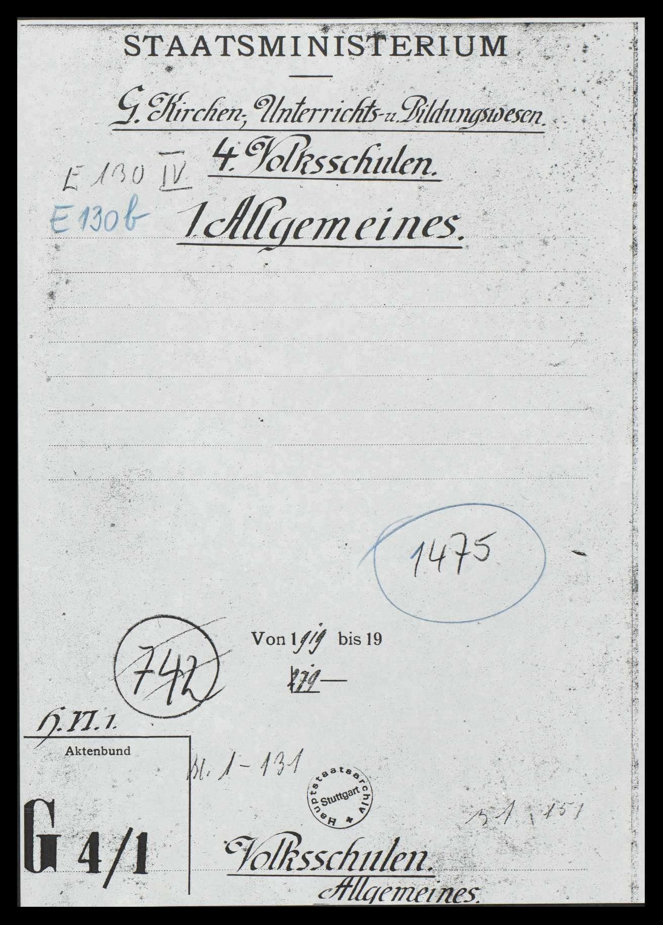 Allgemeine Volksschulfragen, Bild 1