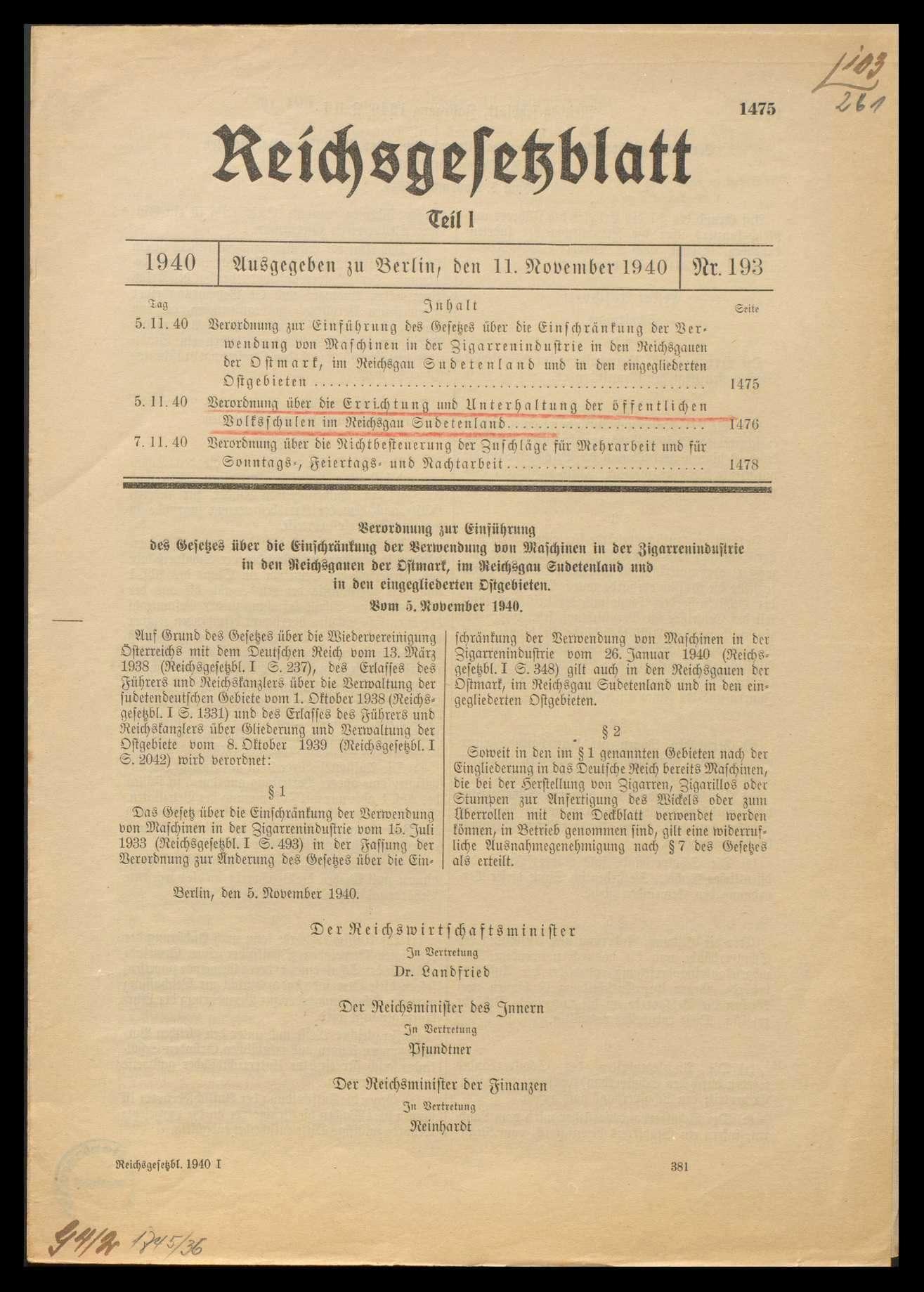 Abänderung von gesetzlichen Bestimmungen über das Volksschulwesen, Bild 3