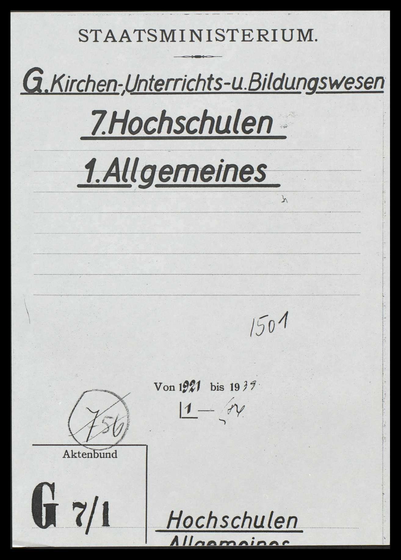 Allgemeine Hochschulfragen, Bild 1