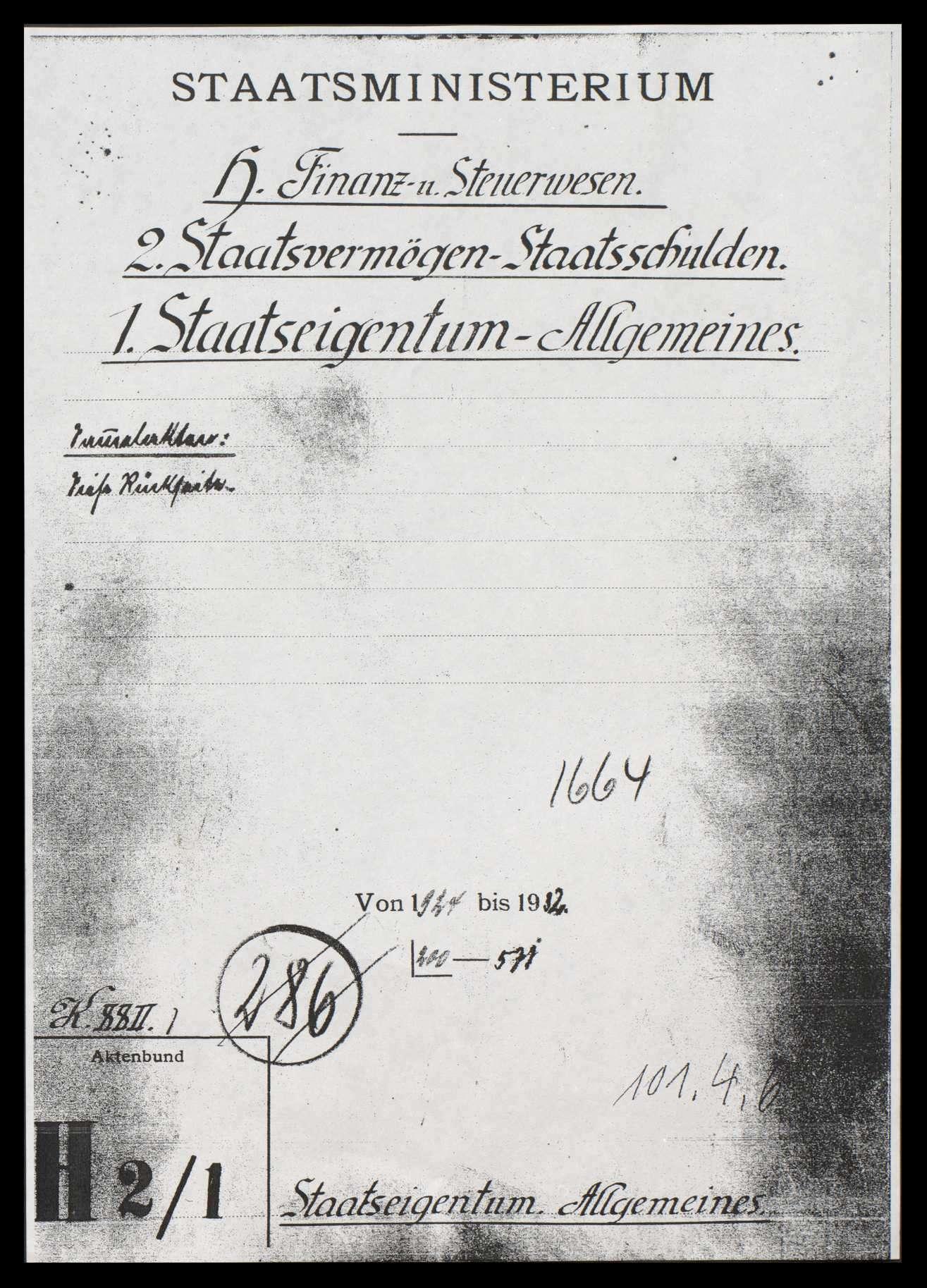 Verwaltung und Verwendung von ehemaligem Krongut, Bild 1