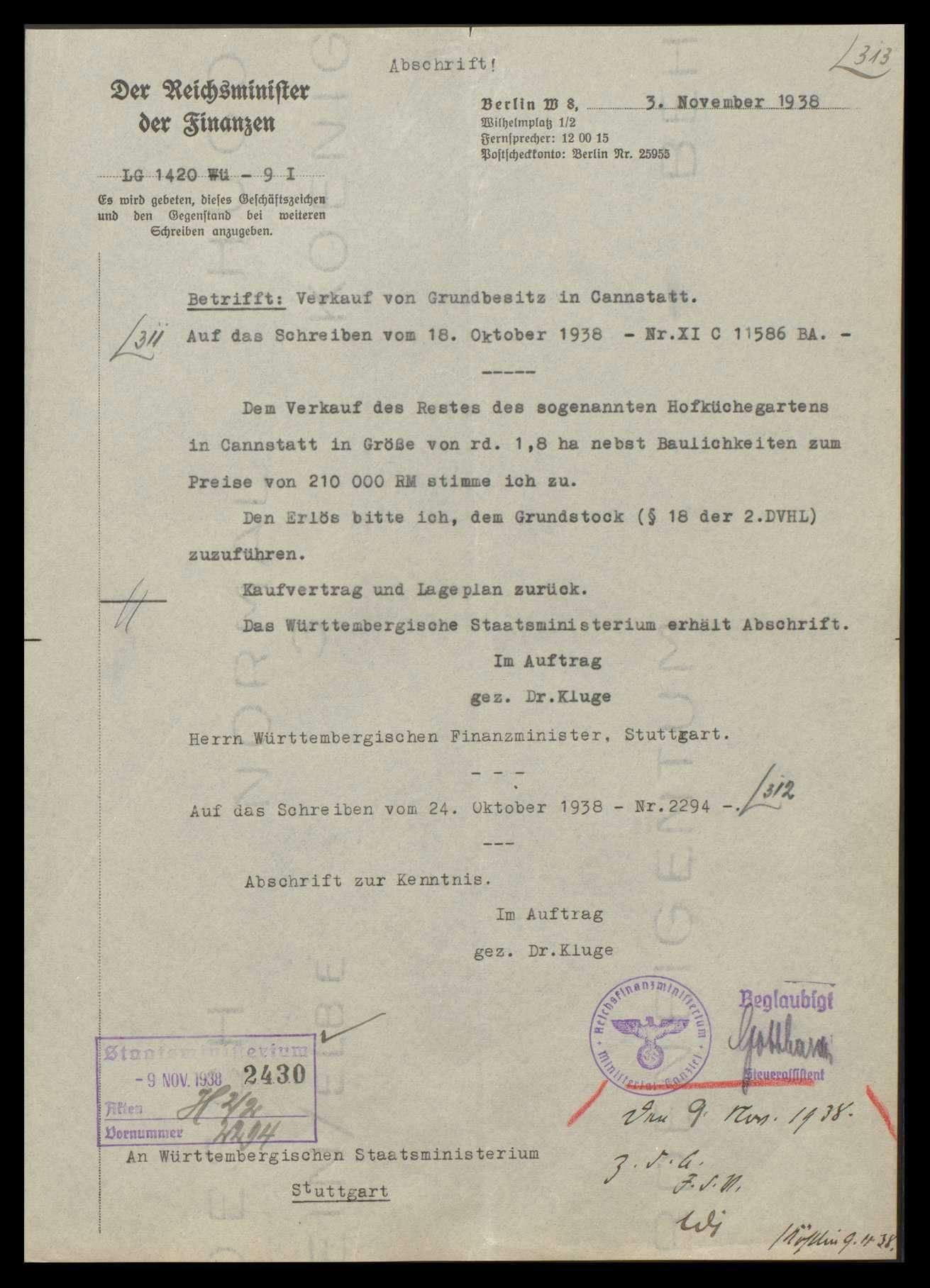 Verwaltung und Verwendung von ehemaligem Krongut, Bild 2