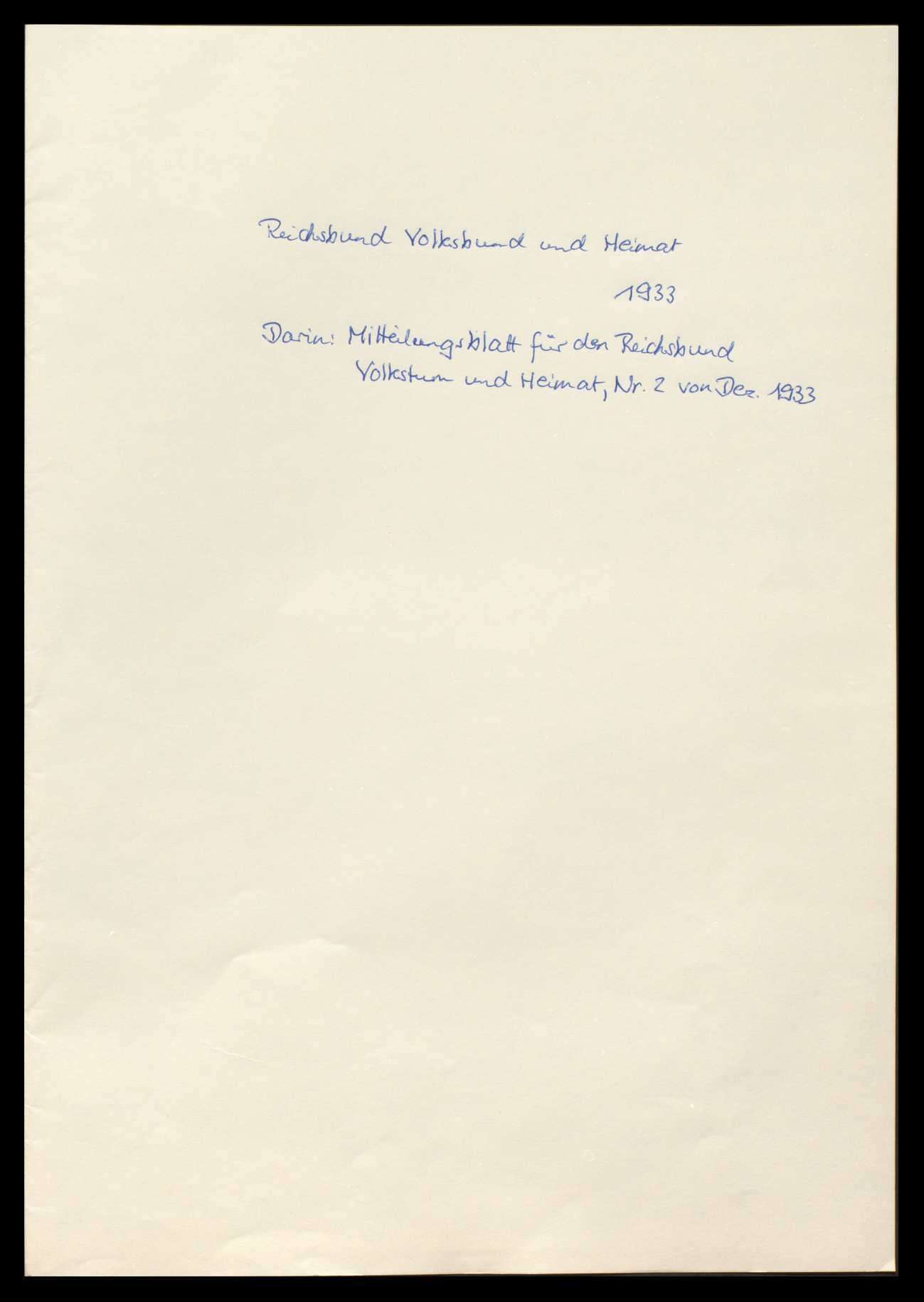 Eingaben nationaler und völkischer Verbände, Bild 1