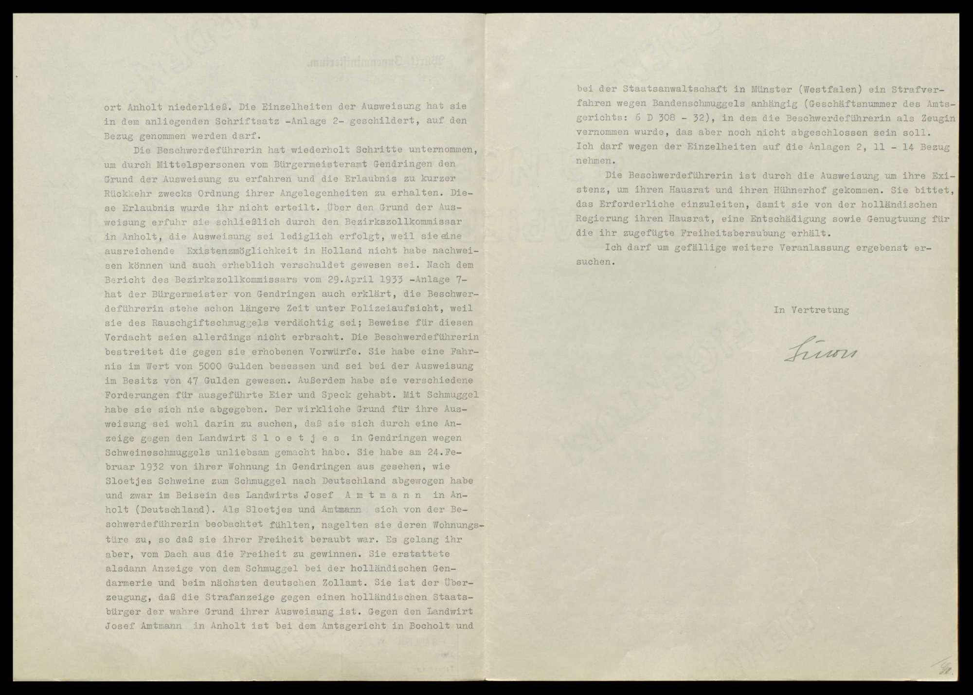 Gesuche wegen Ein- und Ausreisebewilligung sowie wegen Ausweisung deutscher und ausländischer Staatsangehöriger, Bild 3