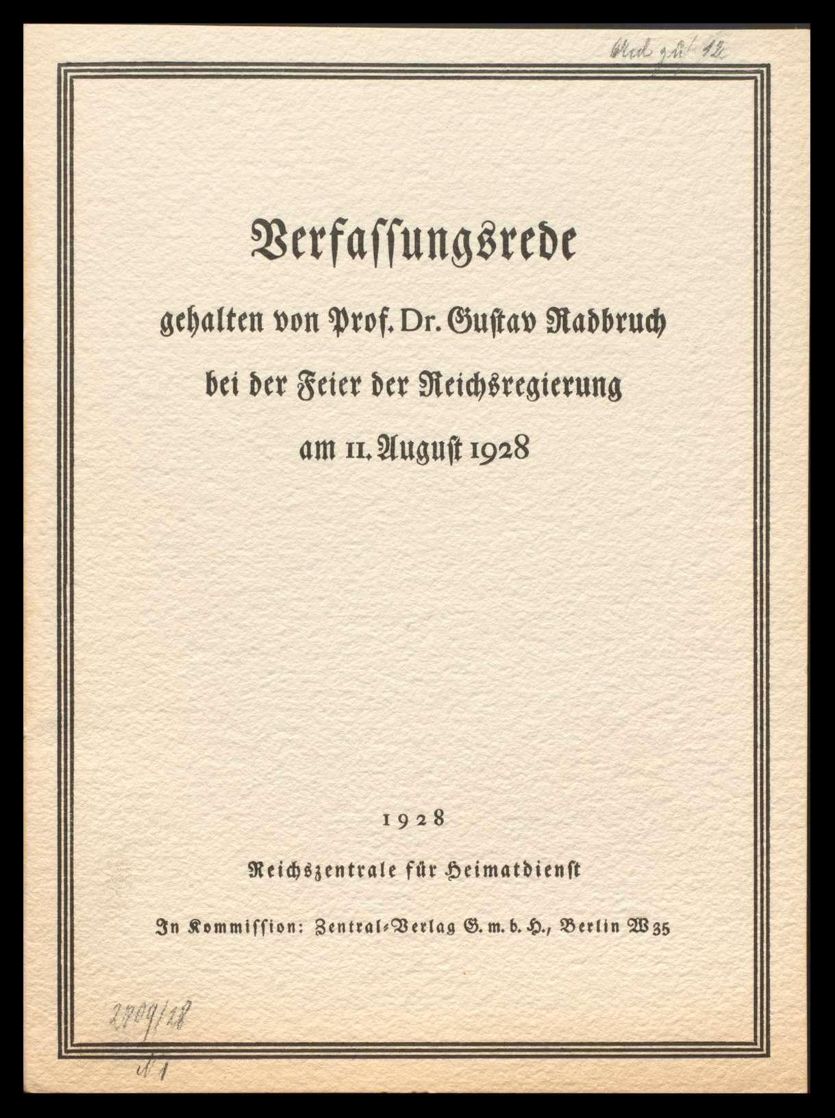Abhaltung von Feiern zum Verfassungstag 1924-1928, Bild 2