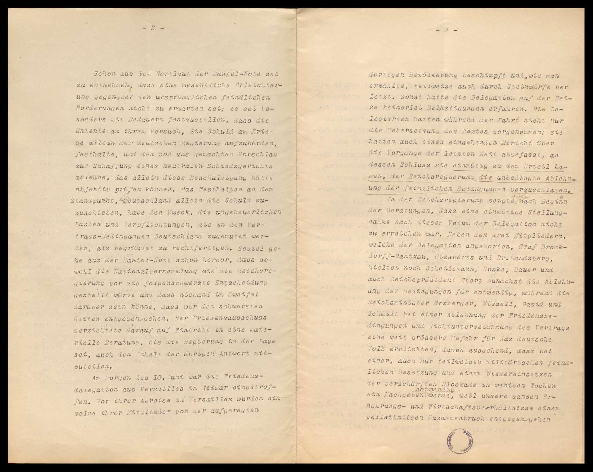Friedensvertragsverhandlungen in Versailles, Friedensbedingungen, besetztes deutsches Gebiet, Verhandlungen wegen Verkaufs und Einfuhr von Rohstoffen nach Deutschland, Bild 2