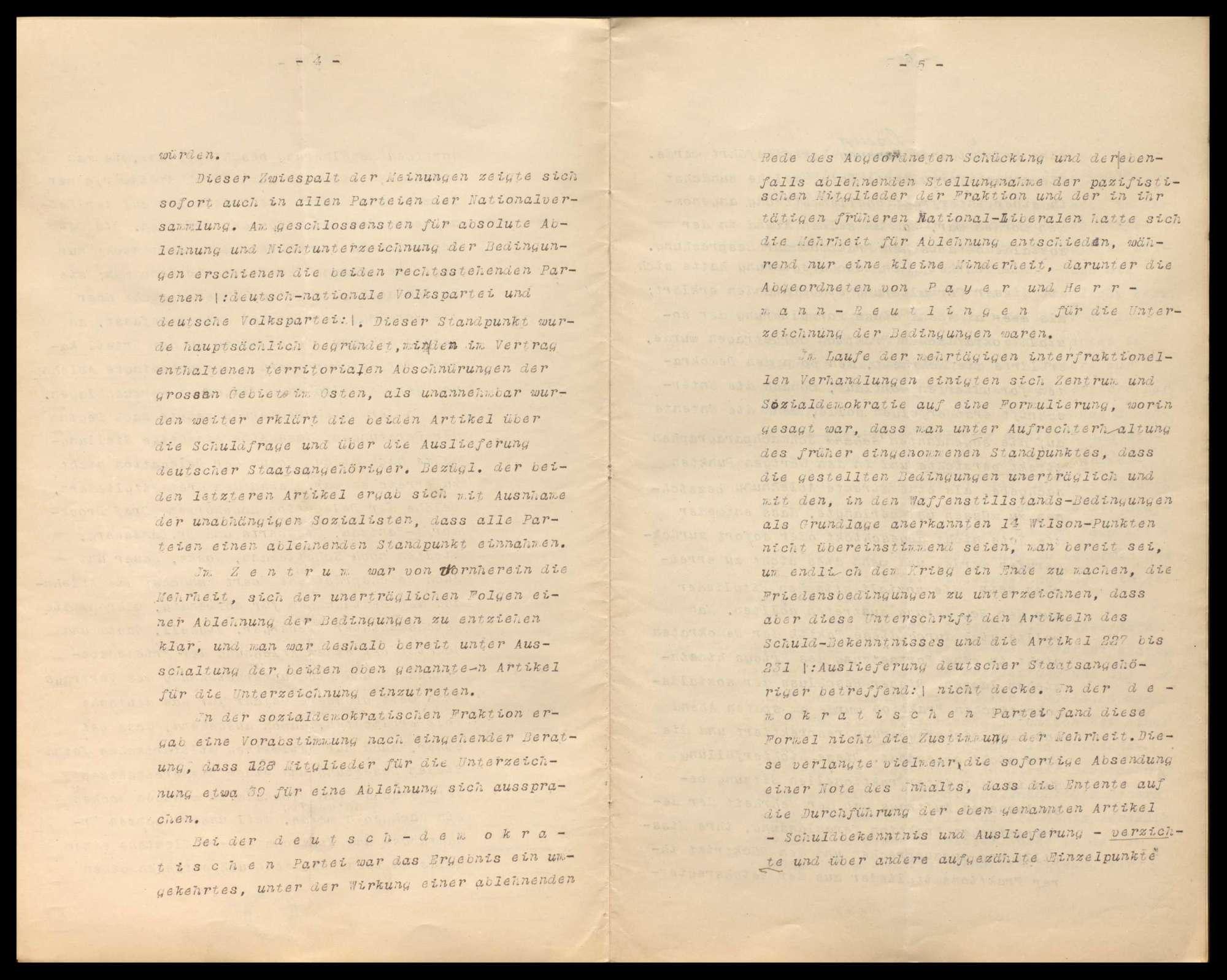 Friedensvertragsverhandlungen in Versailles, Friedensbedingungen, besetztes deutsches Gebiet, Verhandlungen wegen Verkaufs und Einfuhr von Rohstoffen nach Deutschland, Bild 3