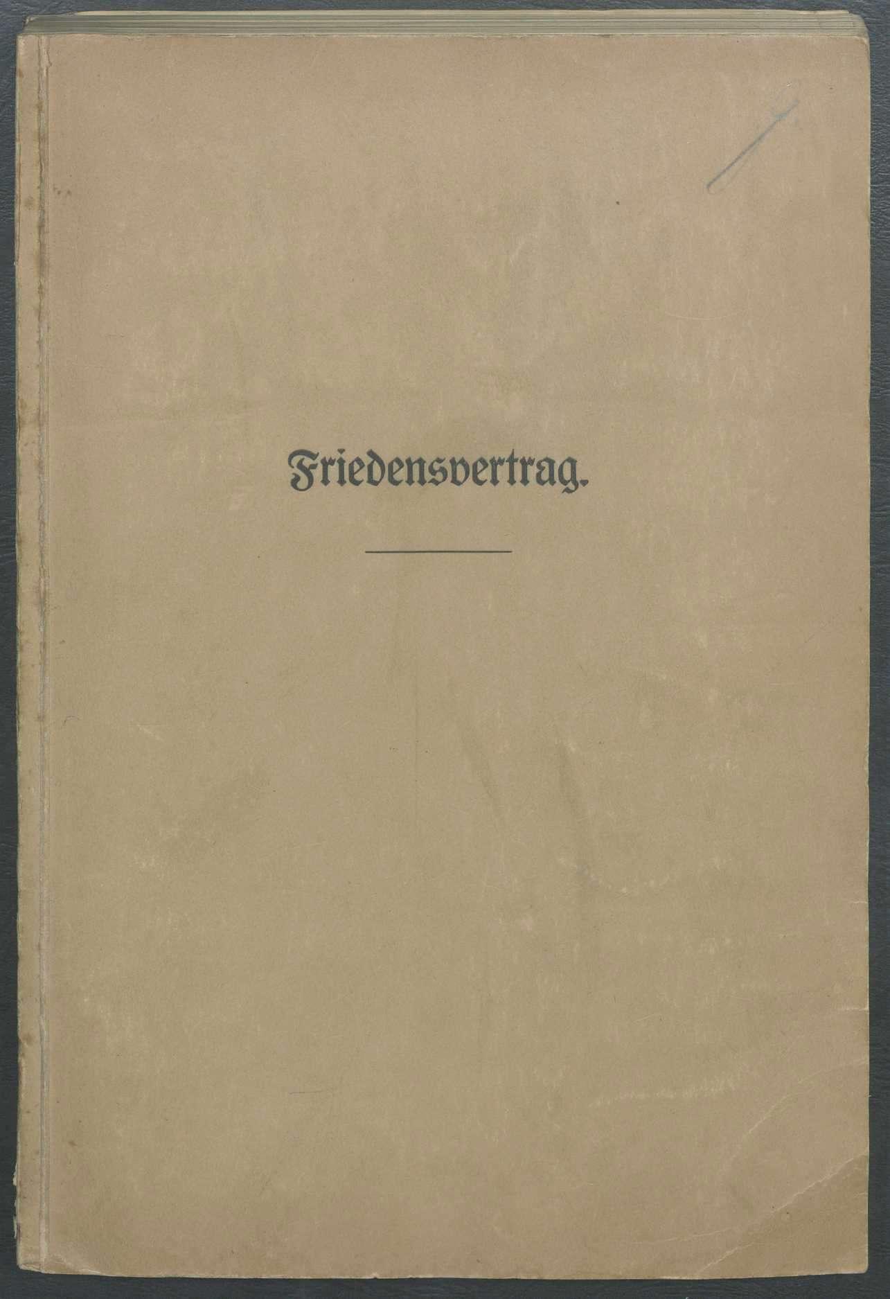 Wortlaut des Friedensvertrags von Versailles, Bild 1