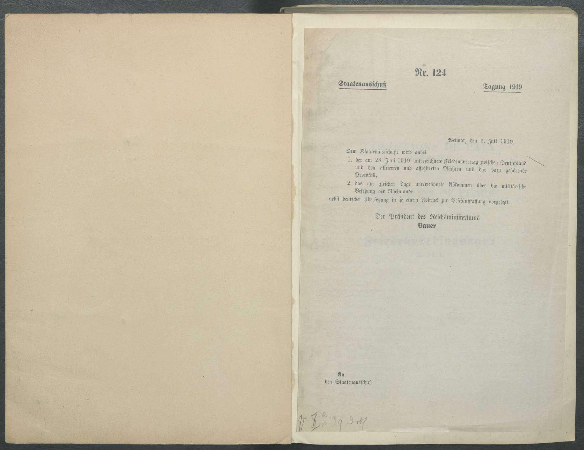 Wortlaut des Friedensvertrags von Versailles, Bild 2